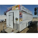 18' Lunch Wagon, sells w/ Title. Includes refrigerator, 3-compartment sink, deep fryer, grill,