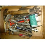 Hammer, fi1e, oil spout, misc. tools