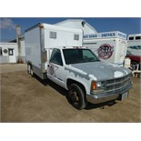 1994 Chevy 1-ton cube van, 5 spd gas engine. Used to pull '93 lunch wagon. Vin: 1GBJC34N1RE138654