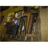 Pallet w/ several toolboxes, electric trimmer