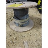 Partial roll small steel cable