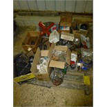 Pallet w/headlights, air cleaner covers, fan, misc