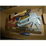 Screwdrivers, caulk gun, misc. tools