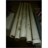 (5) tubes brass, rod steel