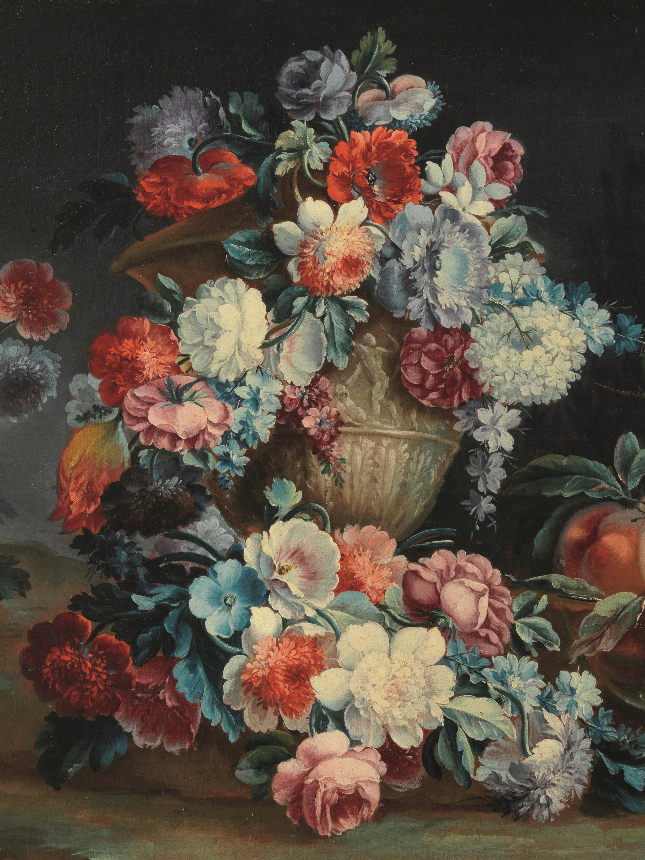 Michele antonio rapous torino 1730 1819 fiori e frutta for Dipinti ad olio fiori