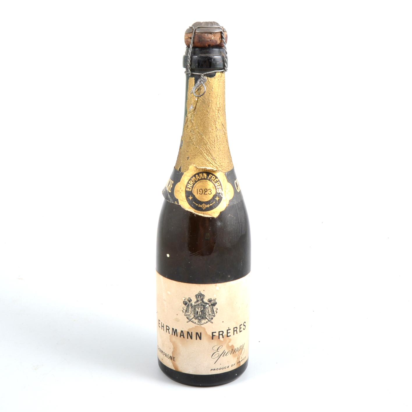 Lot 163 - Ehrmann Freres, Epernay, 1923, Champagne, half bottle.