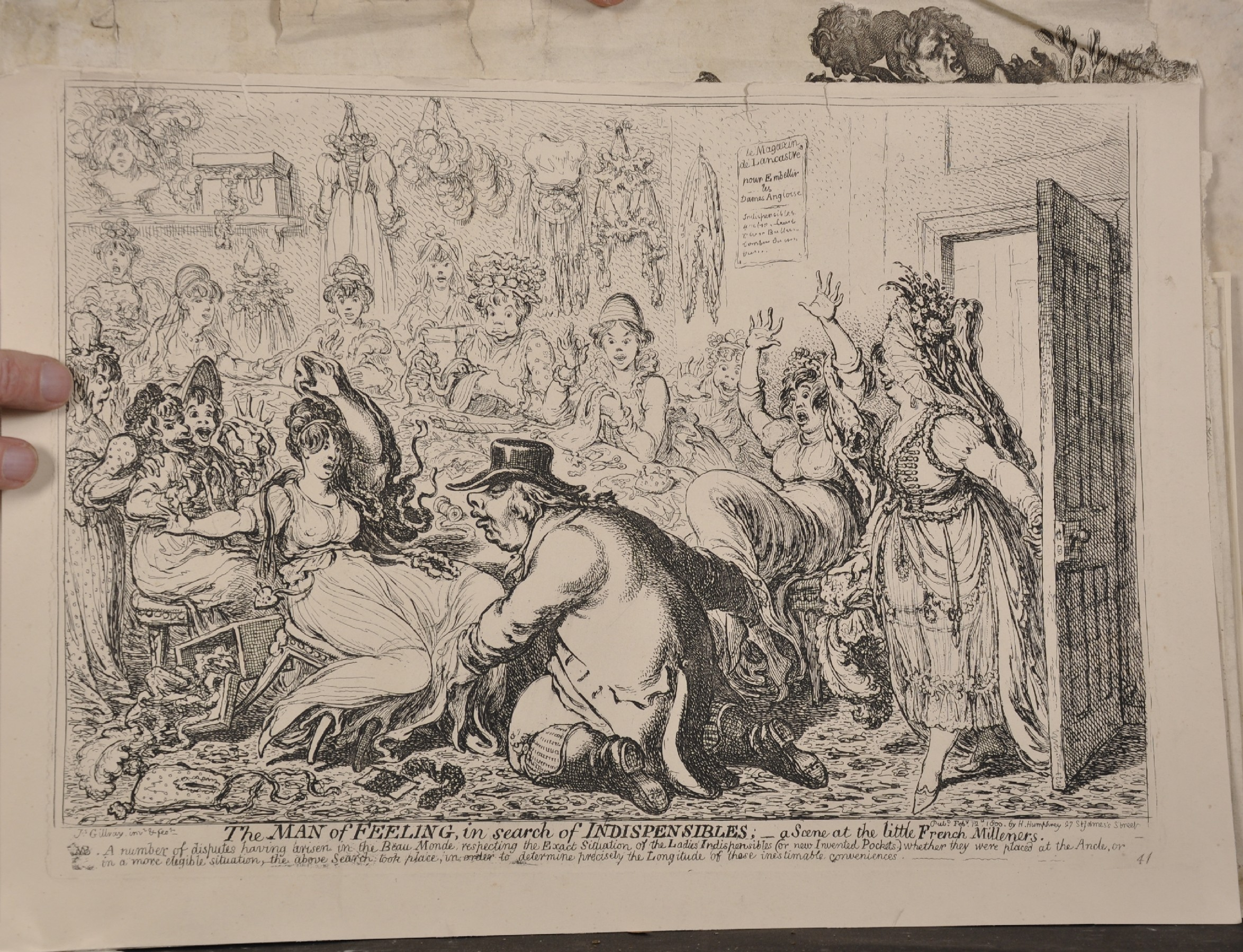 After James Gillray (1757-1815) British. 'The Man of Feeling, in Search of Indispensables', - Image 2 of 6