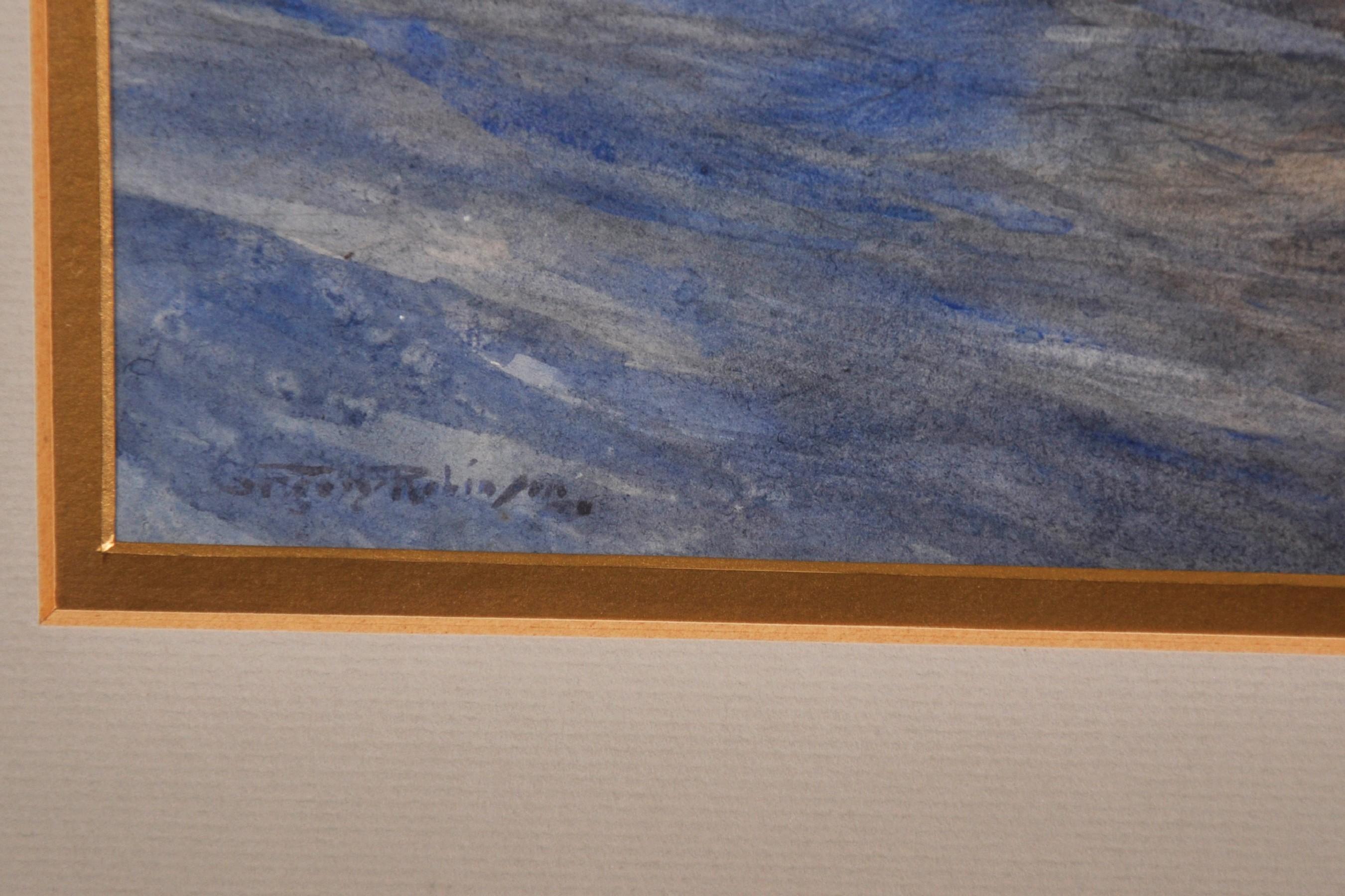 Gregory Robinson (1876-1967) British. Three Masted Sailing Ship at Sea, Watercolour, Signed, 10. - Image 3 of 5