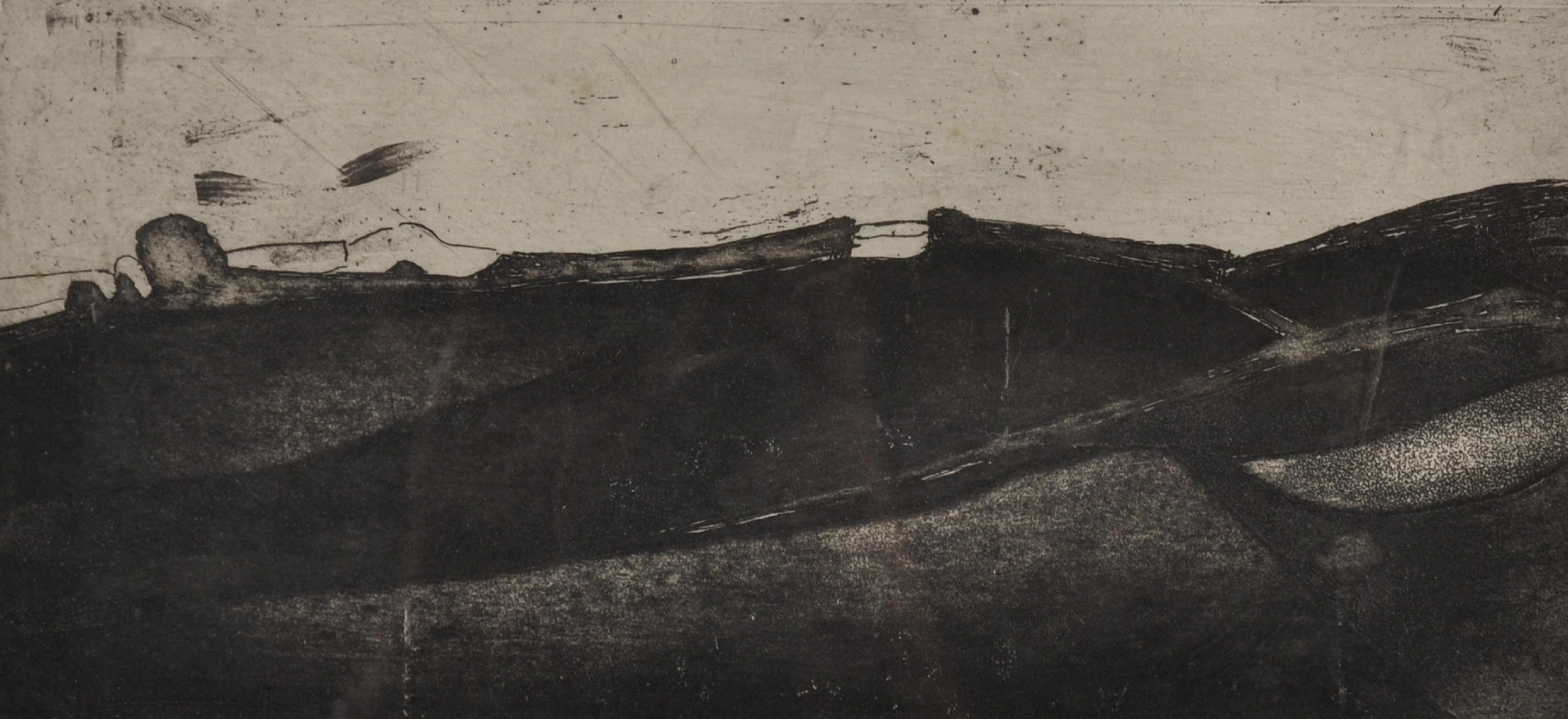 """Sara John (1946- ) British. An Abstract Landscape, Etching, Signed and Dated 1968 in Pencil, 5.5"""""""