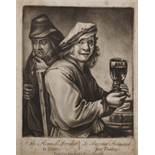 "18th Century English School. ""The Flemish Drinker"" after David Teniers (1610-1690), Engraving,"