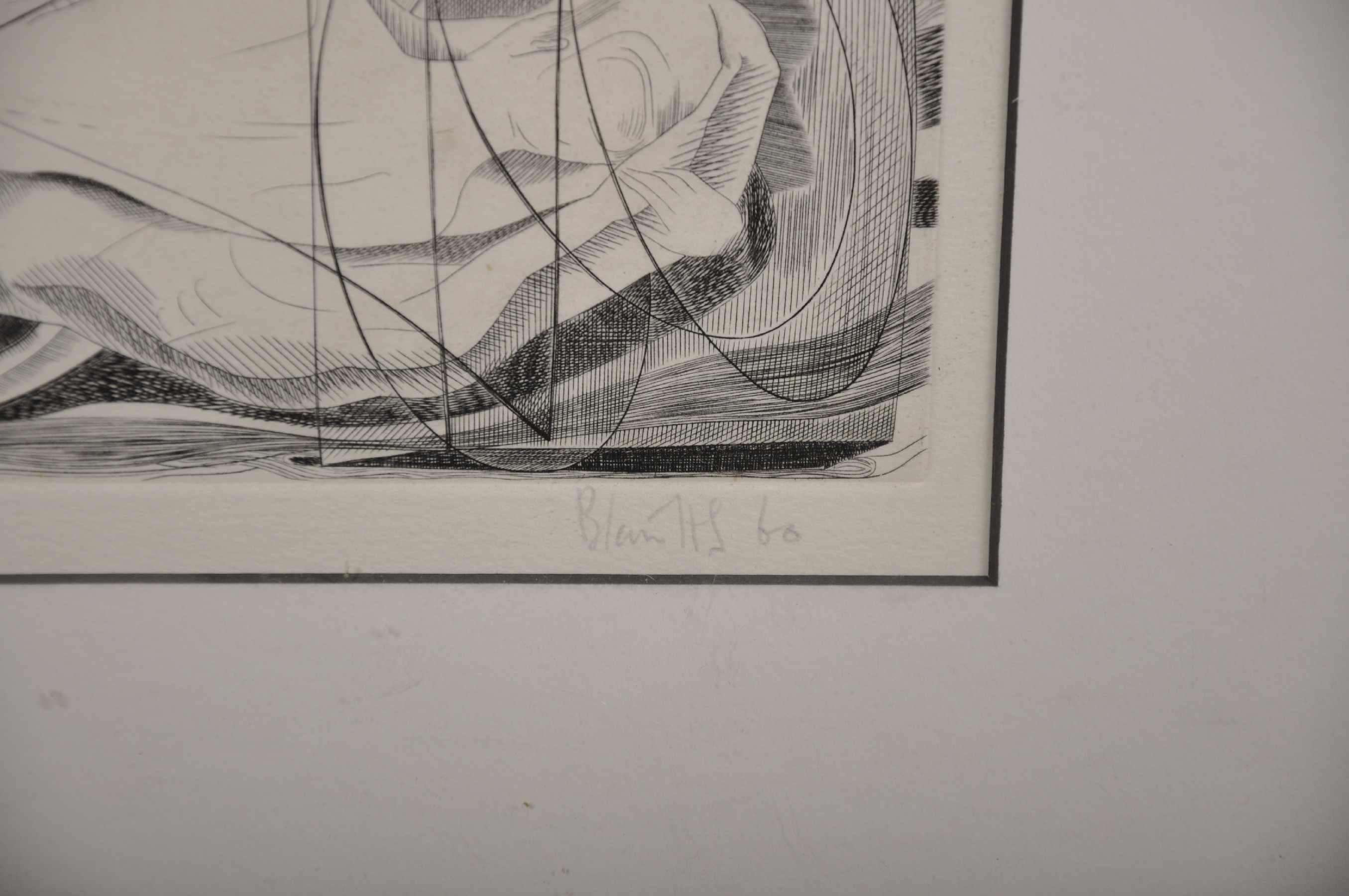"Blair Hughes-Stanton (1902-1981) British. ""Sleep"", Etching, Signed, Inscribed, Dated '60 and - Image 4 of 5"