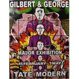 "Gilbert and George (20th - 21st Century) British. ""Major Exhibition Tate Modern"", Poster, Signed"