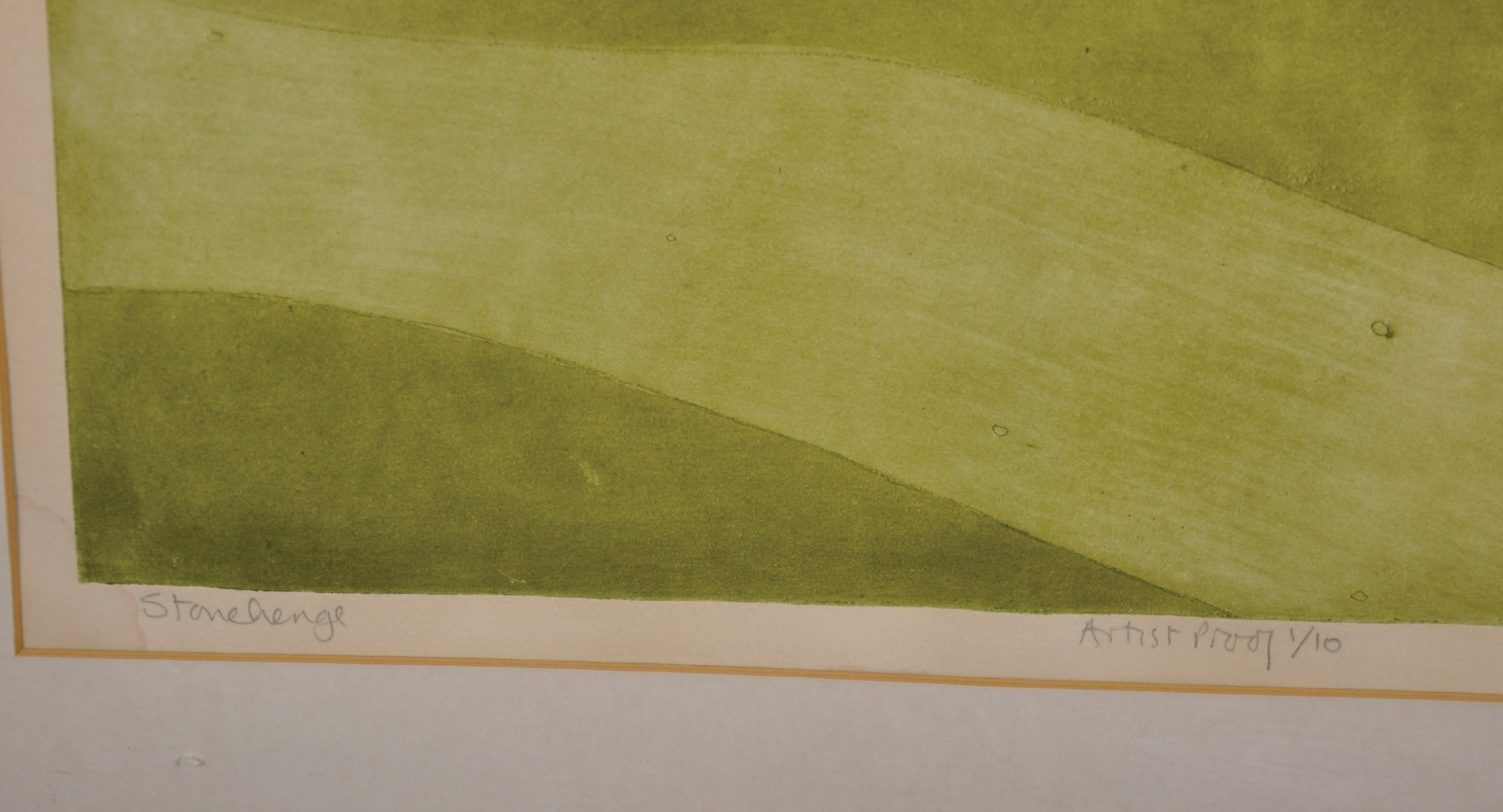 "John Brunsdon (1933-2014) British. ""Stonehenge"", Lithograph, Signed, Inscribed 'Artists Proof 1/10', - Image 3 of 5"
