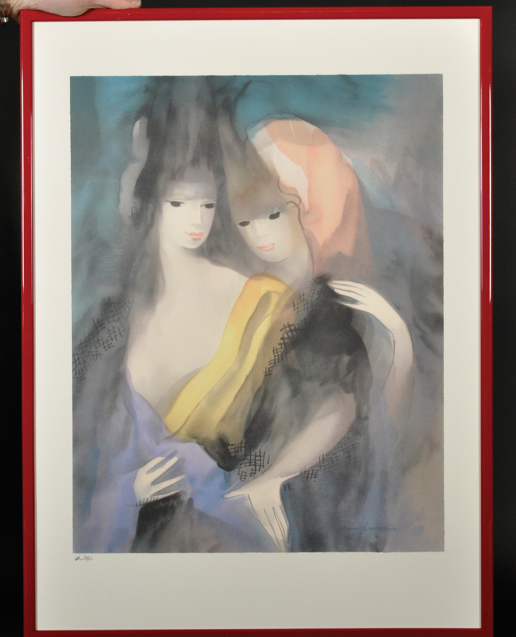 After Marie Laurencin (1883-1956) French. Study of Two Ladies, Lithograph with Printer's Stamp, - Image 2 of 4
