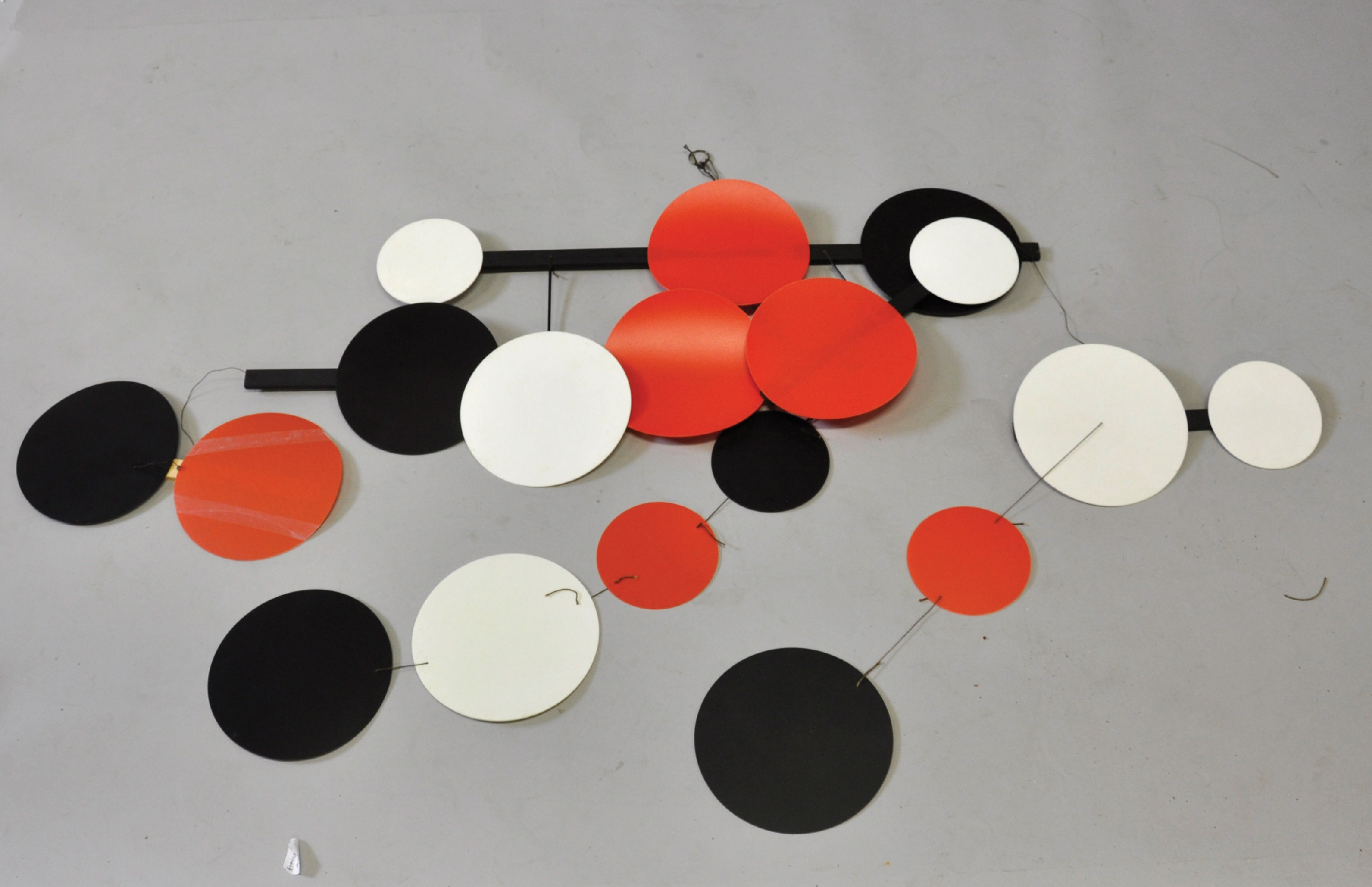 Terry Frost (1915-2003) British. 'Black, Red and White Circles', a Mobile of Eighteen Circular