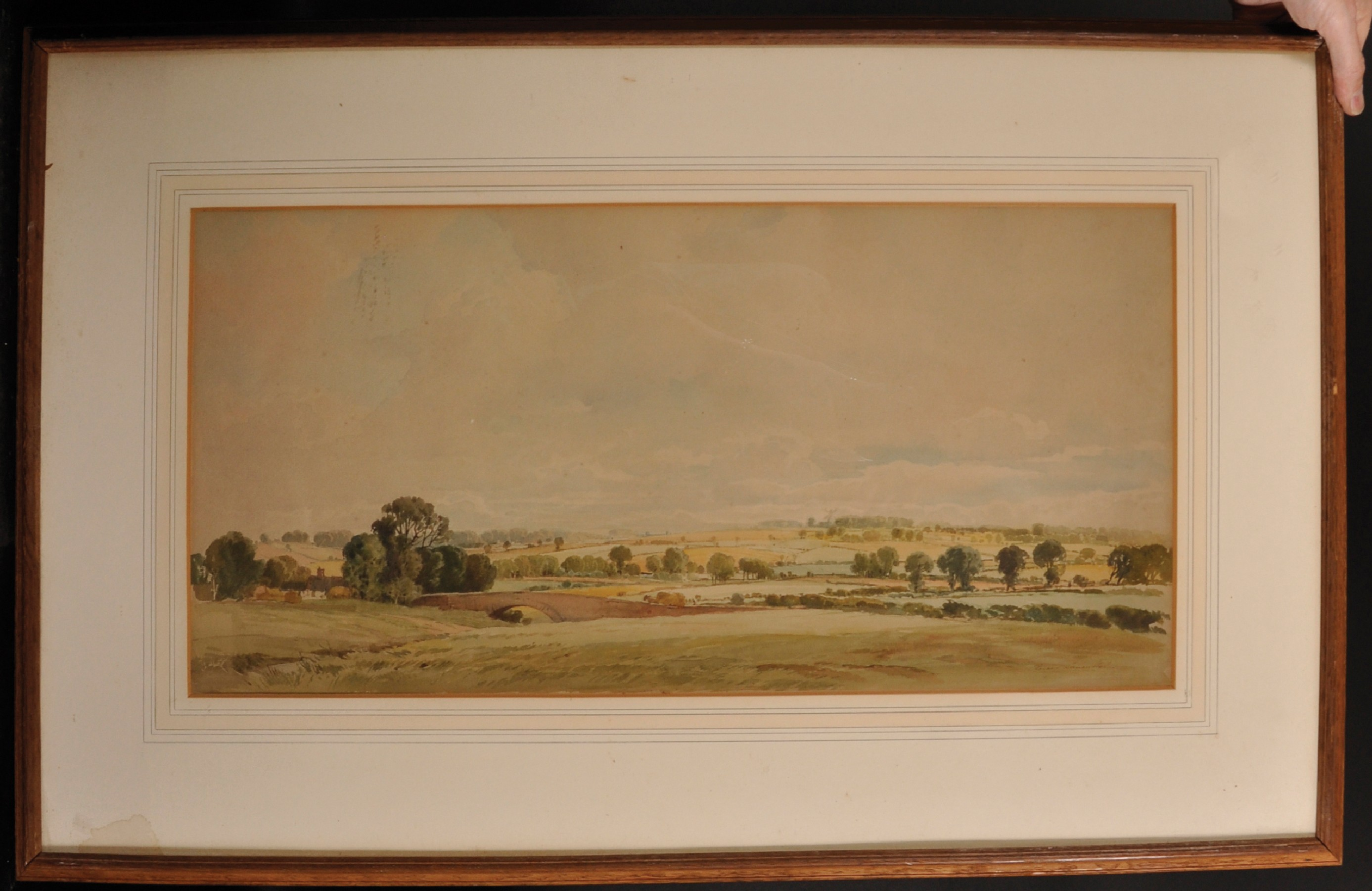 """Percy Lancaster (1878-1951) British. An Extensive Landscape, Watercolour, Signed, 12"""" x 25"""". - Image 2 of 4"""