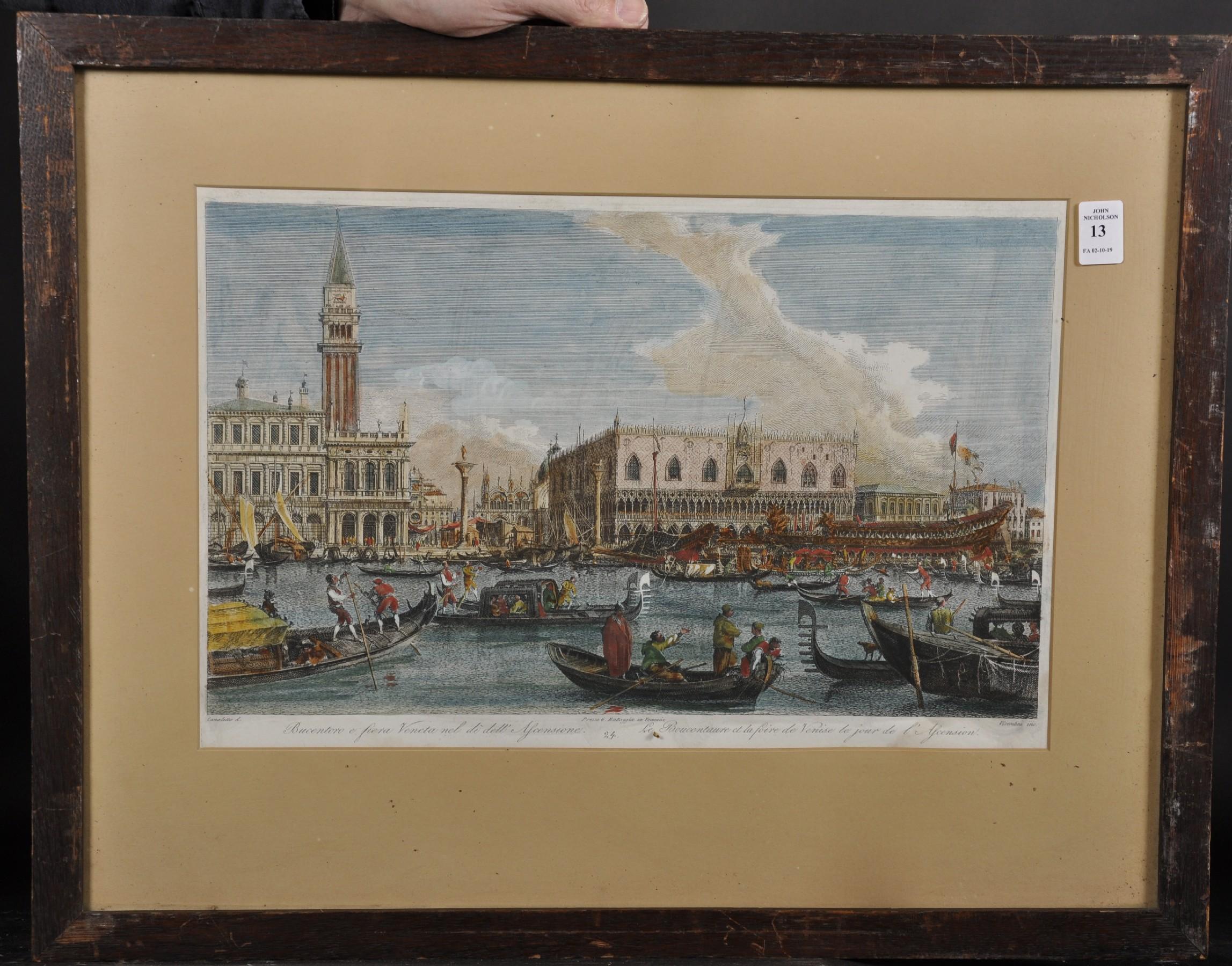 """After Giovanni Antonio Canal 'Canaletto' (1697-1768) Italian. """"Bucentoro e fiera Veneta nel di - Image 2 of 3"""
