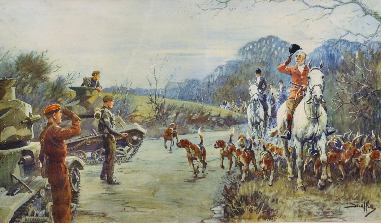 "Charles Johnson Payne 'Snaffles' (1884-1967) British. ""The Season, 1939-40"", A Coloured"