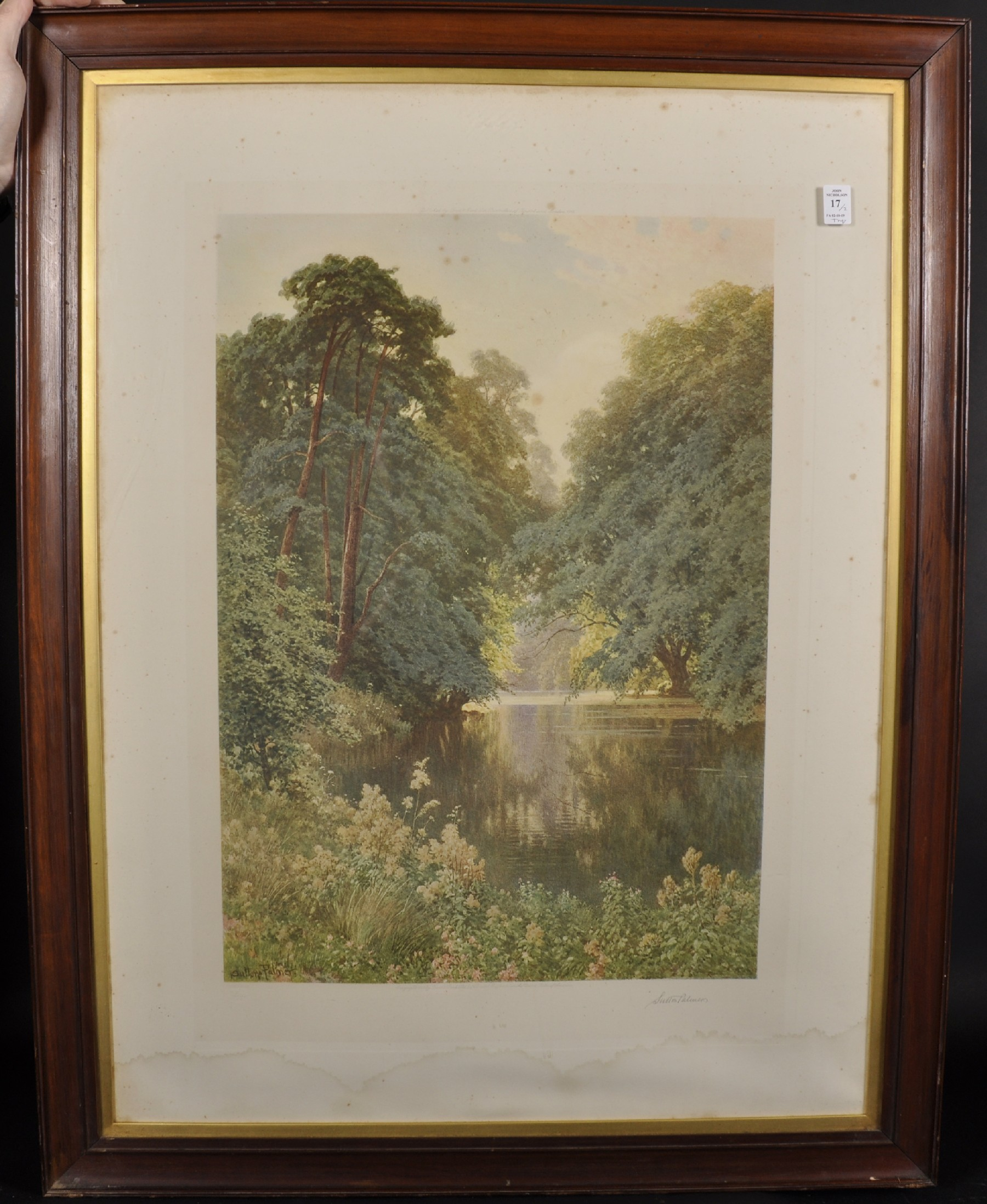 Harry Sutton Palmer (1854-1933) British. A Tranquil River Landscape, Print, Signed in Pencil, with - Image 2 of 6