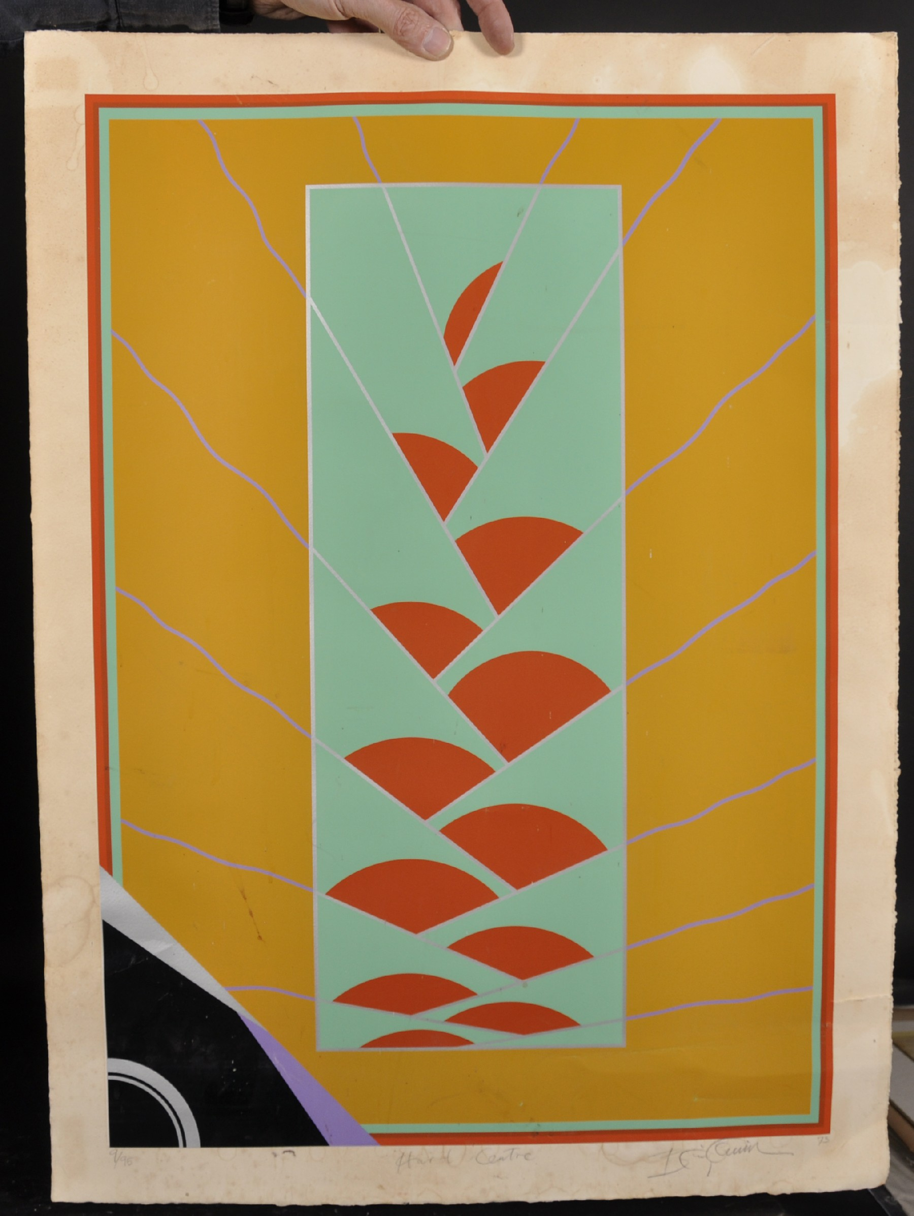 """20th Century English School. """"Hard Centre"""", Serigraph, Indistinctly Signed, Inscribed, Dated '73 and - Image 2 of 4"""