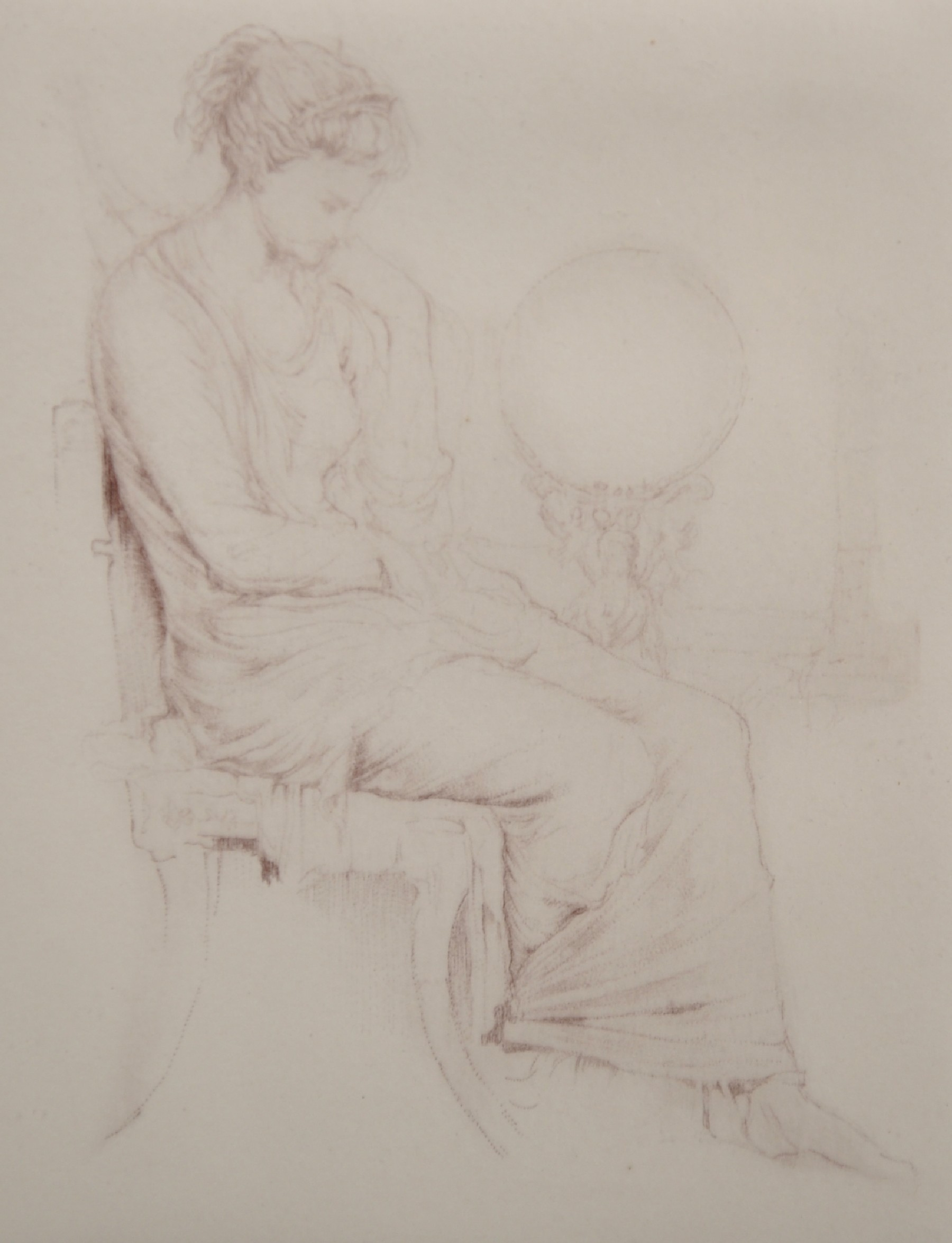 Laforte (20th Century) European. Study of a Seated Maiden, Etching, Indistinctly Signed and Numbered