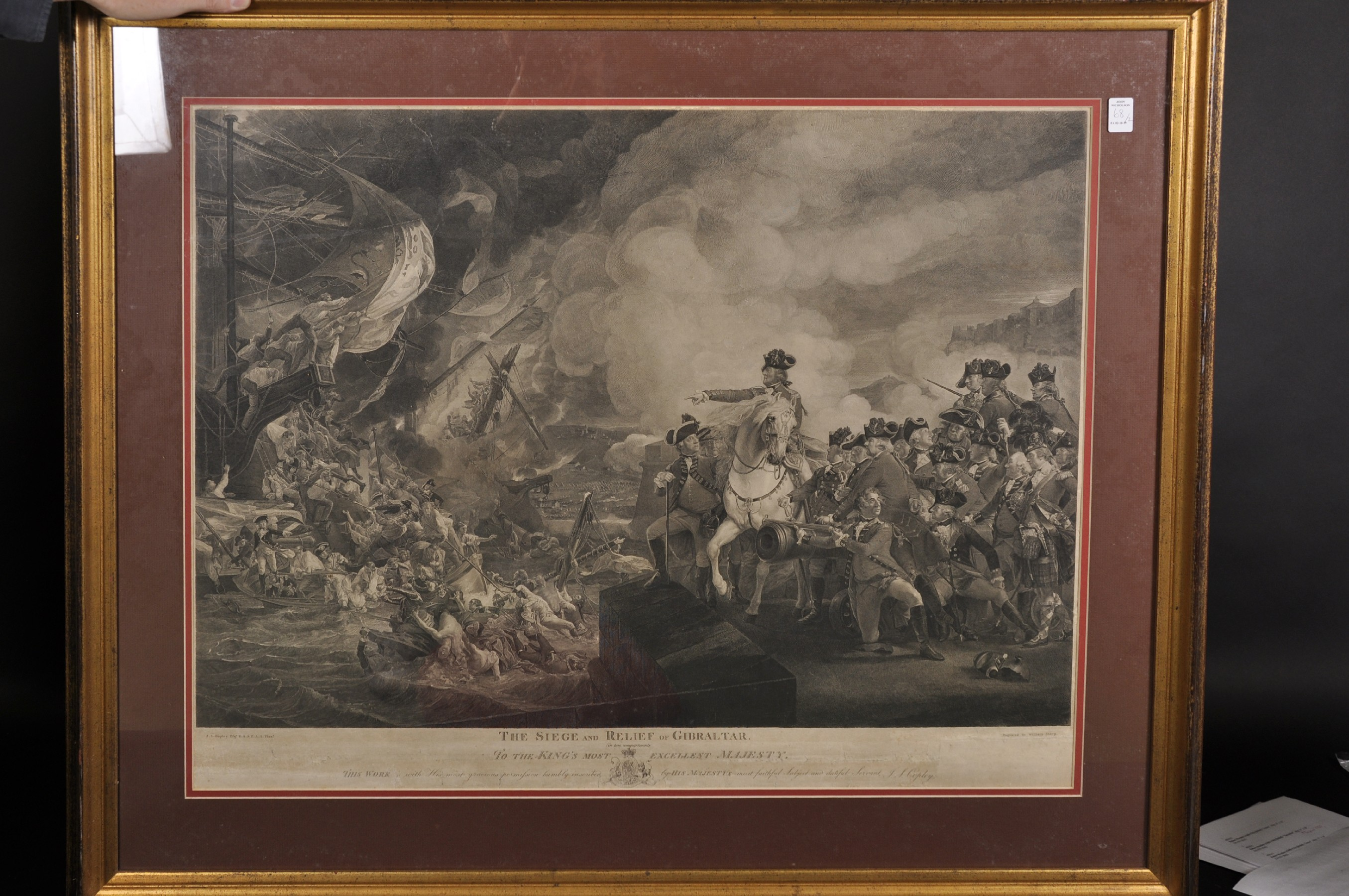 "William Sharp (1749-1824) British after John Singleton Copley (1737-1815) British. ""The Siege and - Image 3 of 4"
