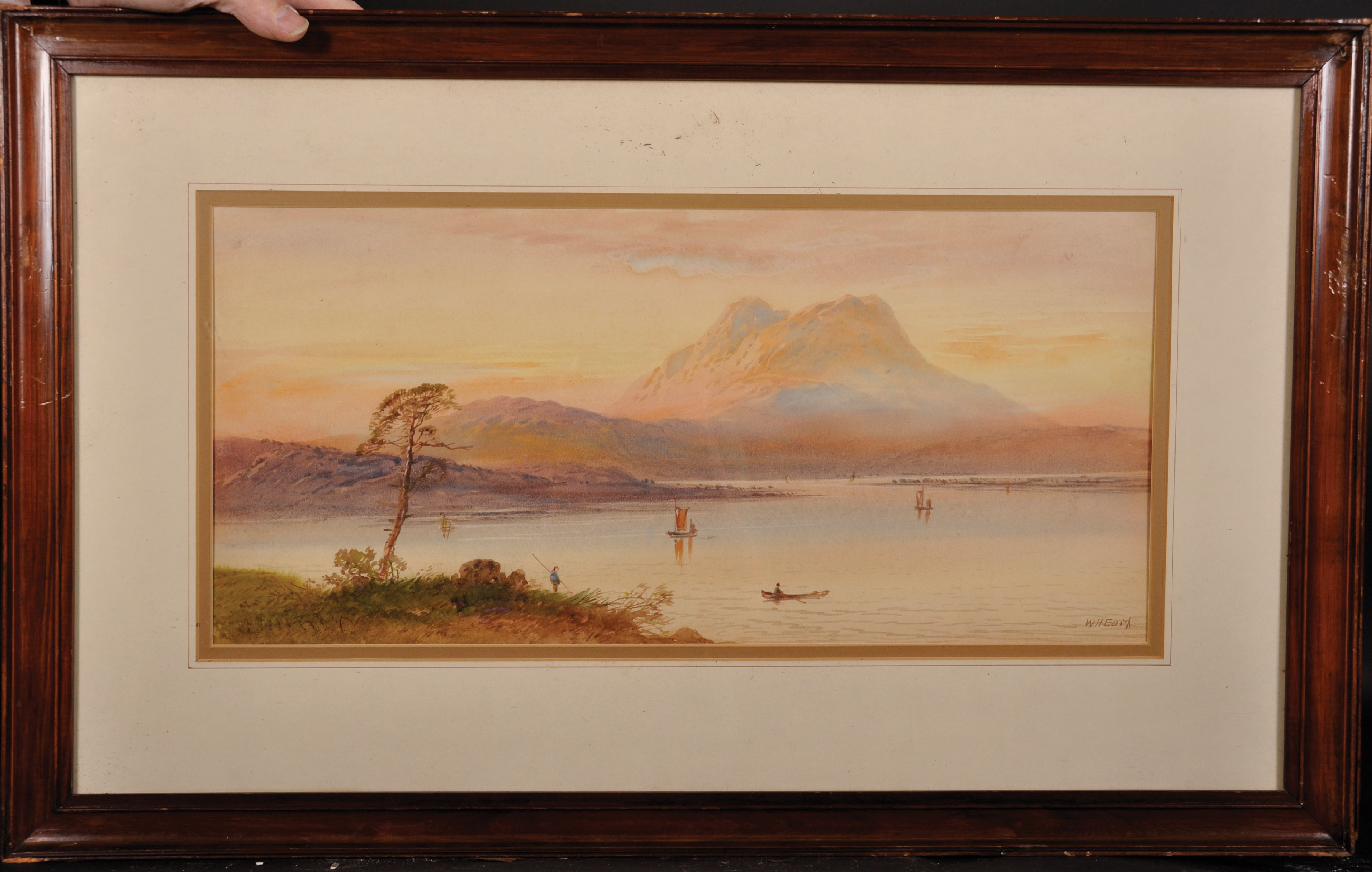 """William Henry Earp (1833- ) British. A Mountainous River Landscape, Watercolour, Signed, 10"""" x 21. - Image 4 of 7"""