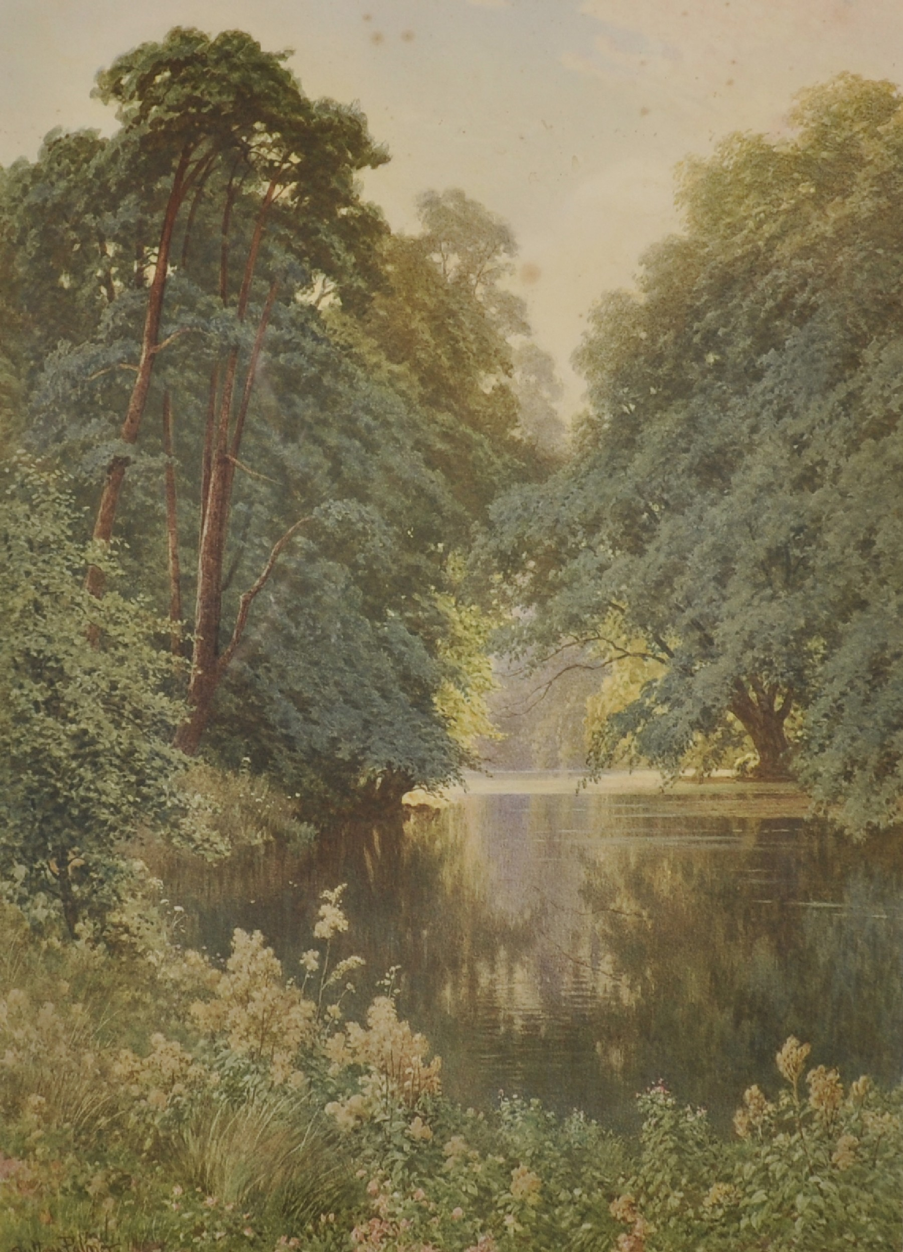 Harry Sutton Palmer (1854-1933) British. A Tranquil River Landscape, Print, Signed in Pencil, with