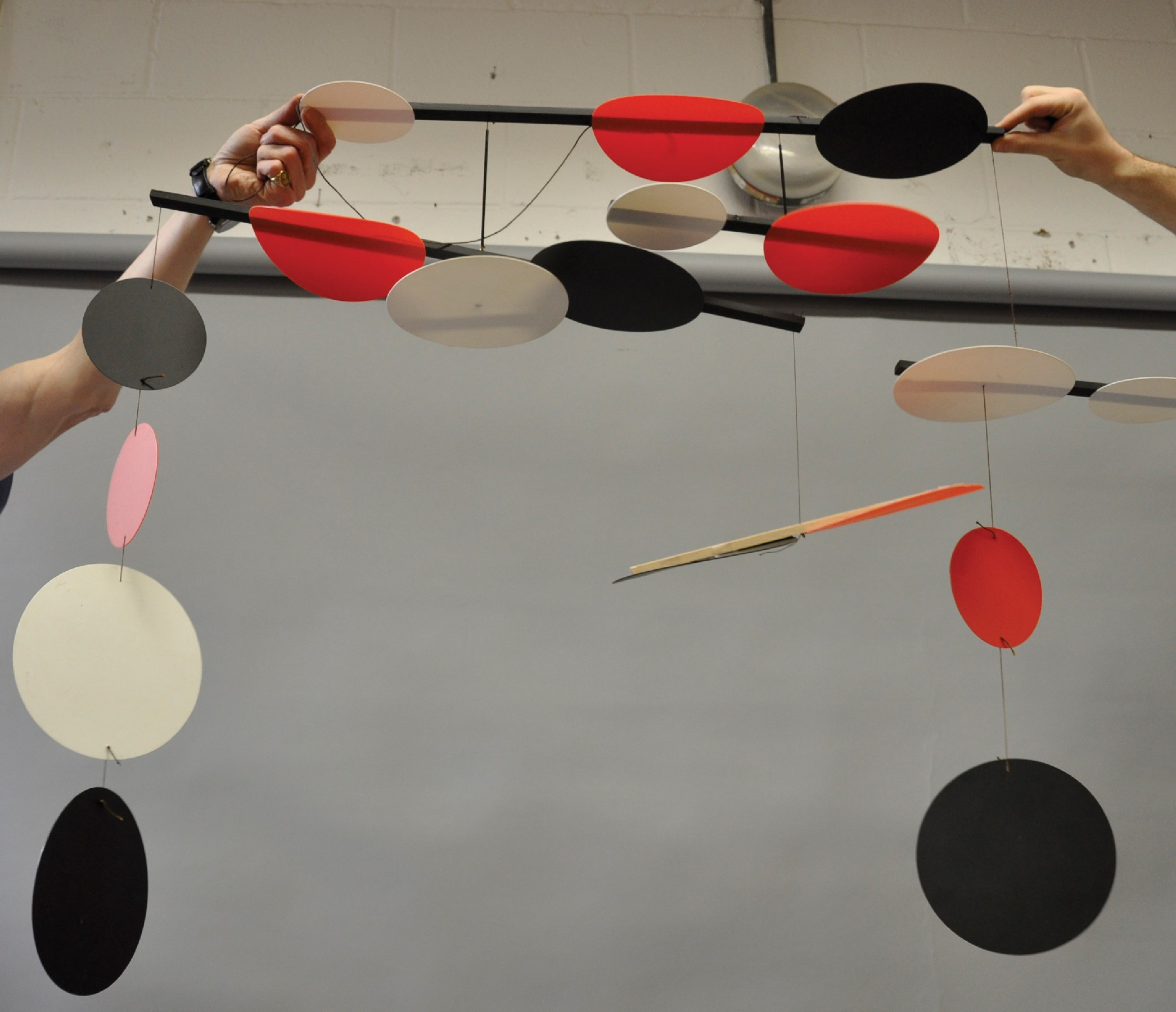 Terry Frost (1915-2003) British. 'Black, Red and White Circles', a Mobile of Eighteen Circular - Image 2 of 4
