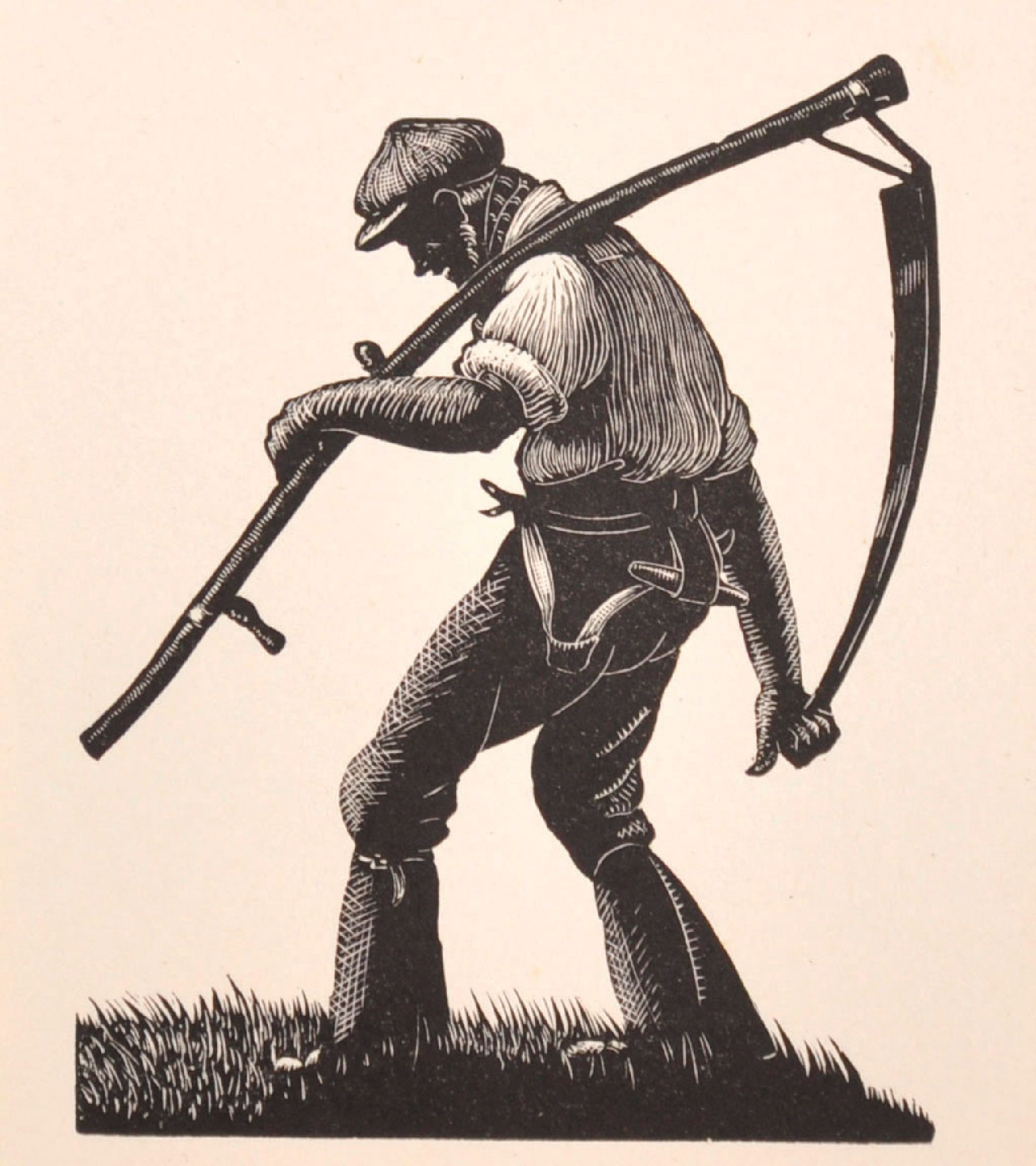 "Clare Leighton (1898-1989) British. 'The Ploughman', Print, Unframed, 4"" x 3.5""."