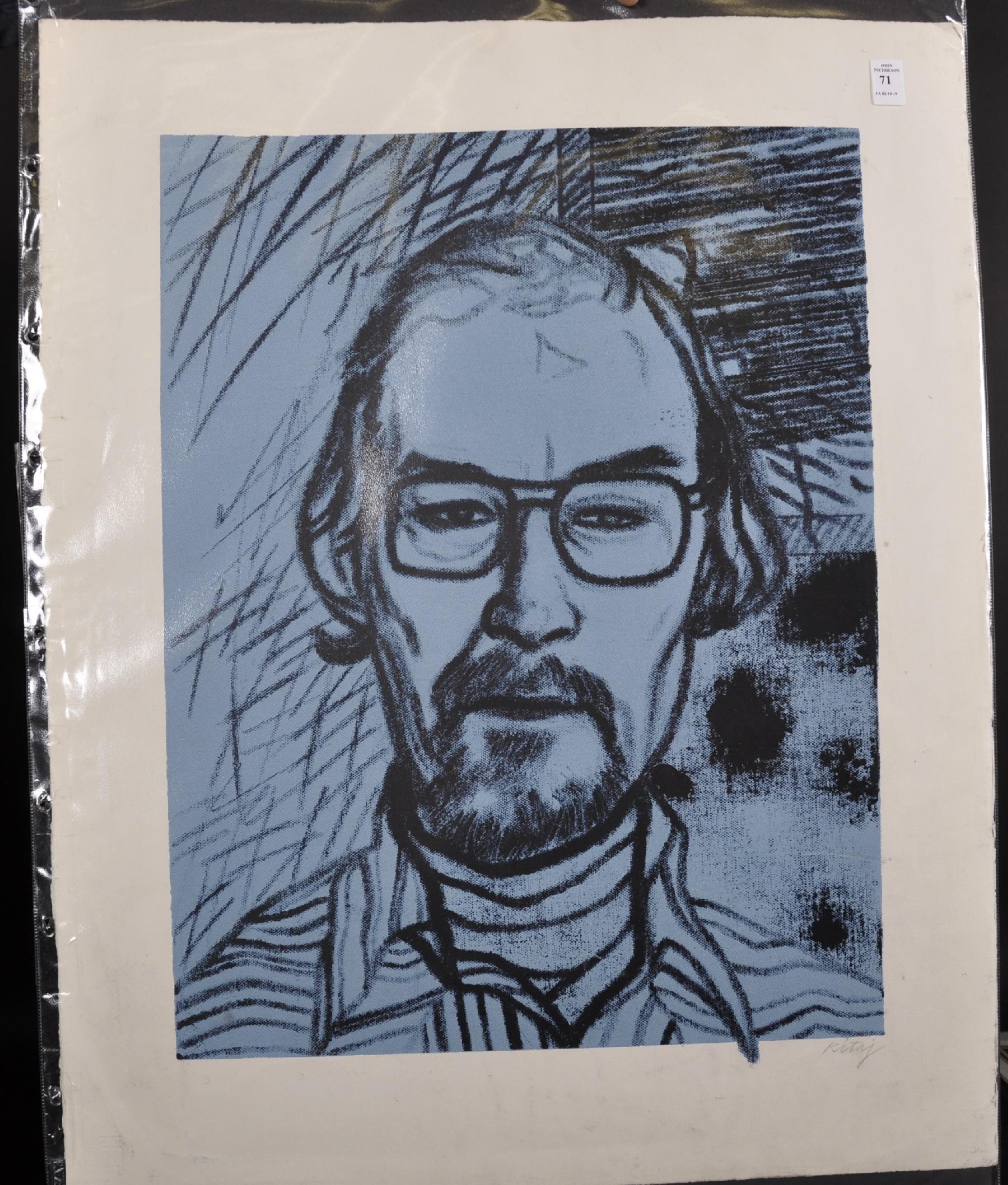 Ronald Brooks Kitaj (1932-2007) American. Portrait of Chris Prater (1890), Screenprint in Colours, - Image 2 of 3