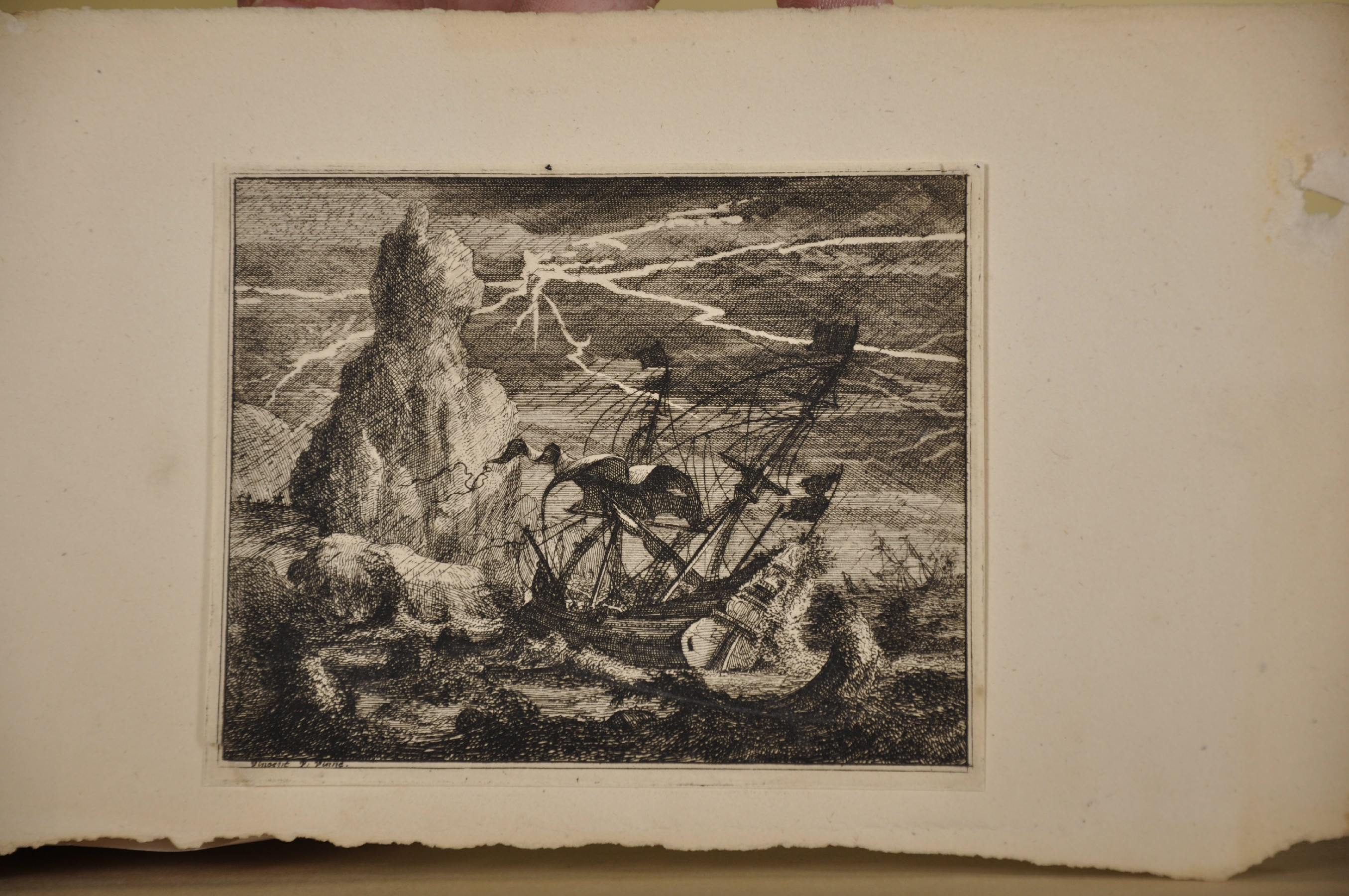 """18th Century Italian School. Cupids with an Elephant, Engraving, Unframed, 6"""" x 7.5"""", and Seven - Image 6 of 9"""