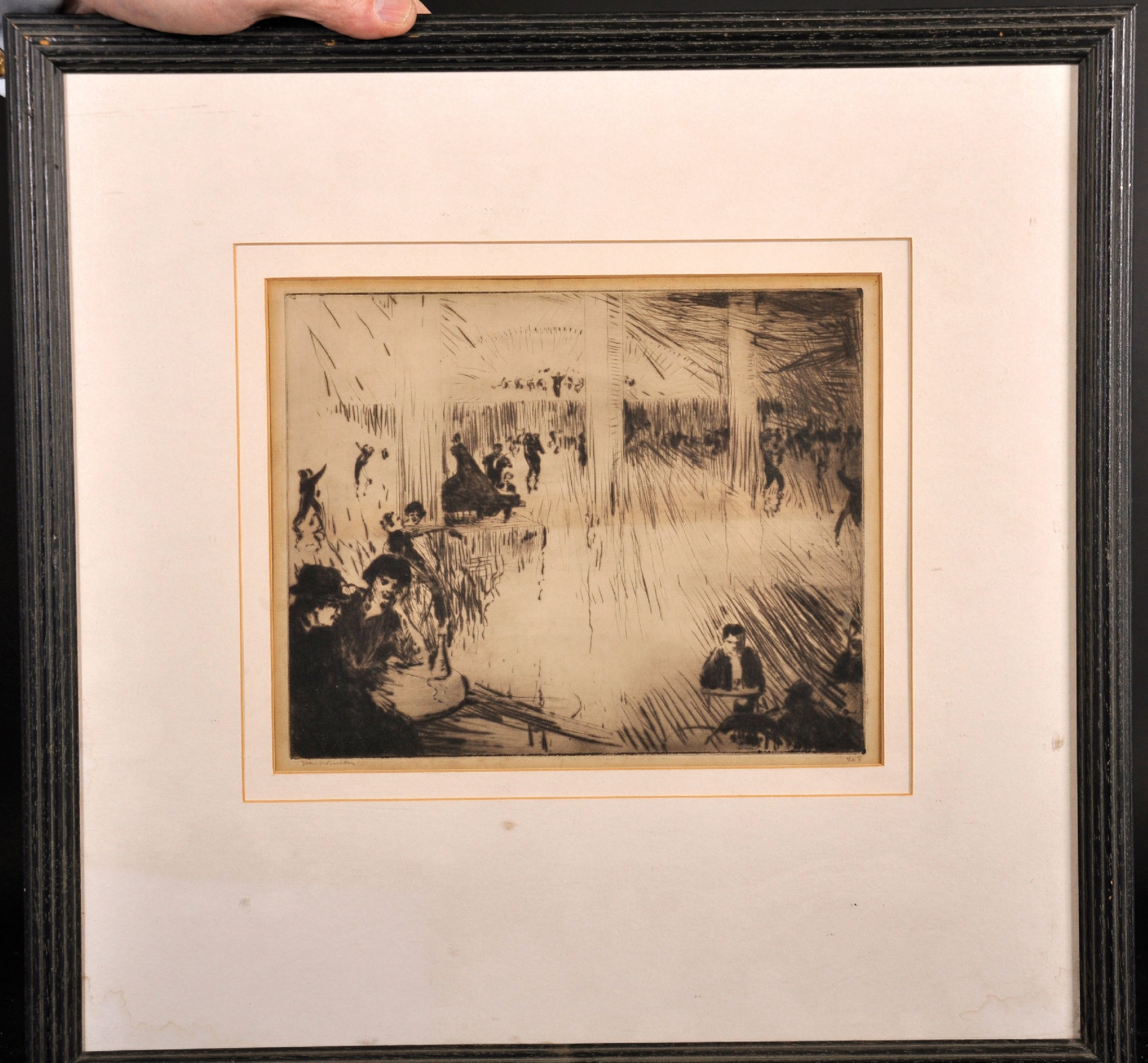 """John Rankine Barclay (1884-1962) British. """"Paris Dance Hall"""", Drypoint Etching, Signed and Inscribed - Image 2 of 6"""