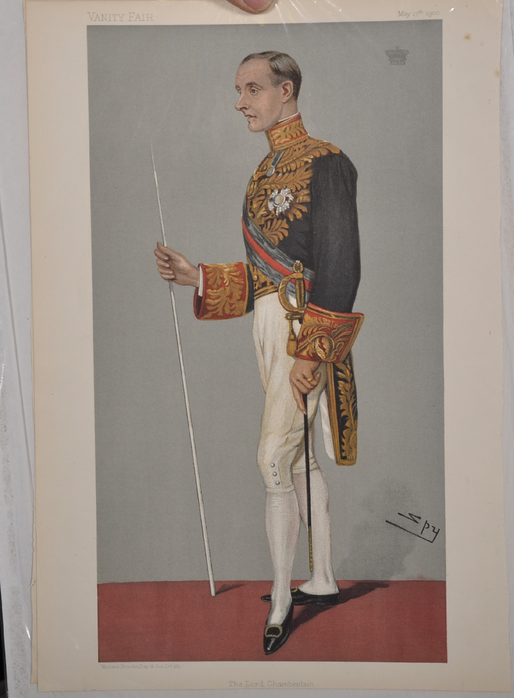 "Leslie Ward 'Spy' (1851-1922) British. ""Ossie"", Study of a Guards Officer in Mess Kit from Vanity - Image 6 of 6"