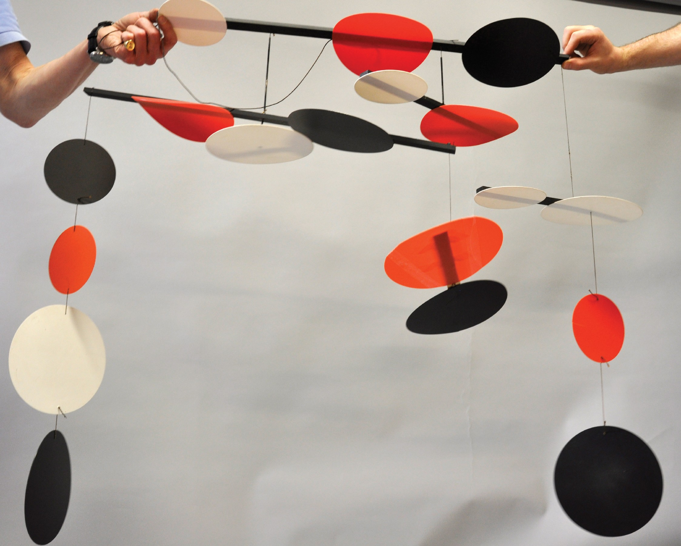 Terry Frost (1915-2003) British. 'Black, Red and White Circles', a Mobile of Eighteen Circular - Image 3 of 4