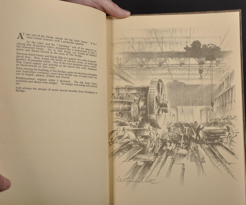 "Robert Emerson Curtis (1898-1996) British/Australian. ""The Bridge from Woolloomooloo"", with Sydney - Image 12 of 12"