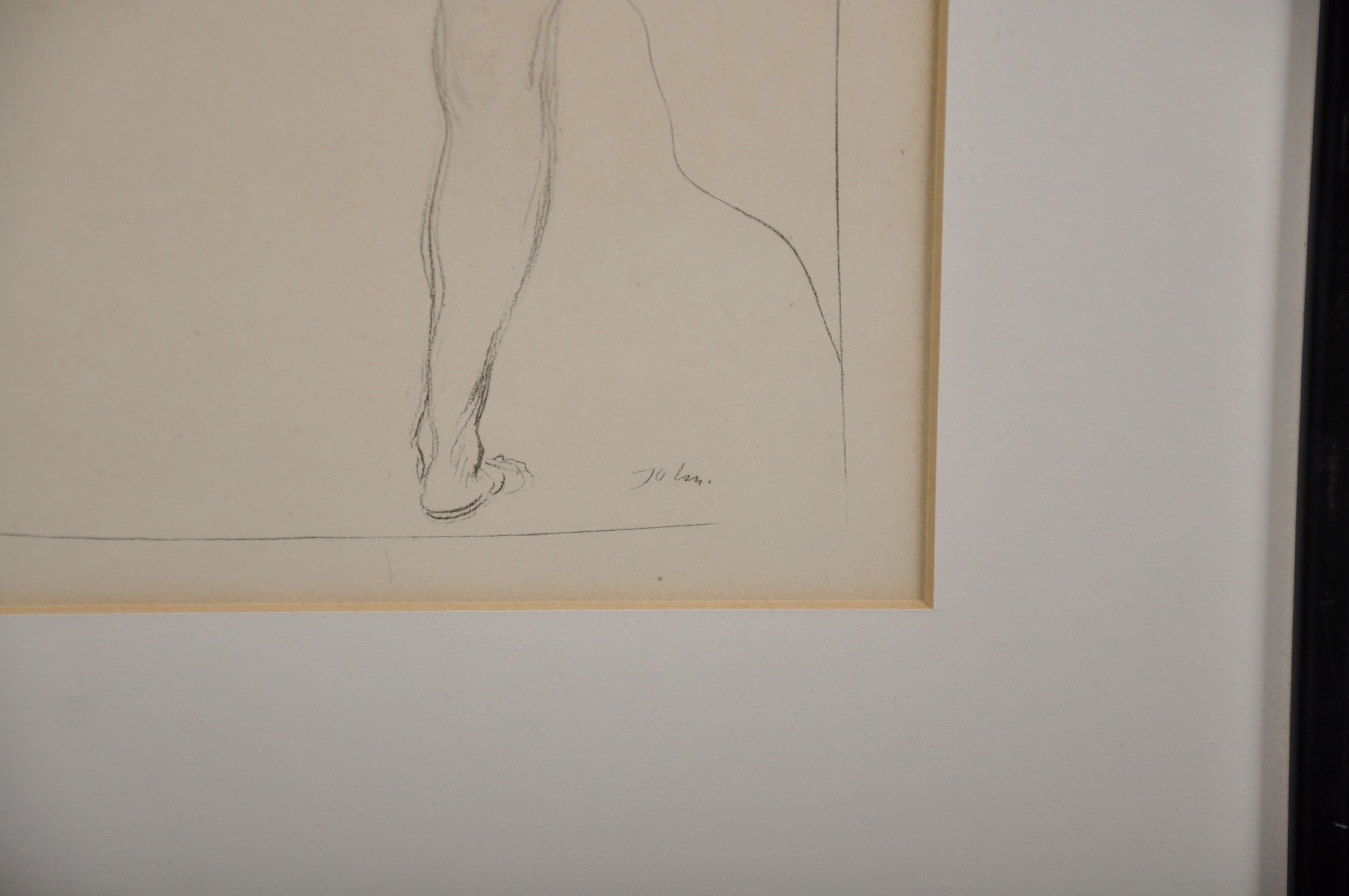 "Augustus John (1878-1961) British. Study of a Naked Girl, Print, 10"" x 6.5"". - Image 3 of 4"