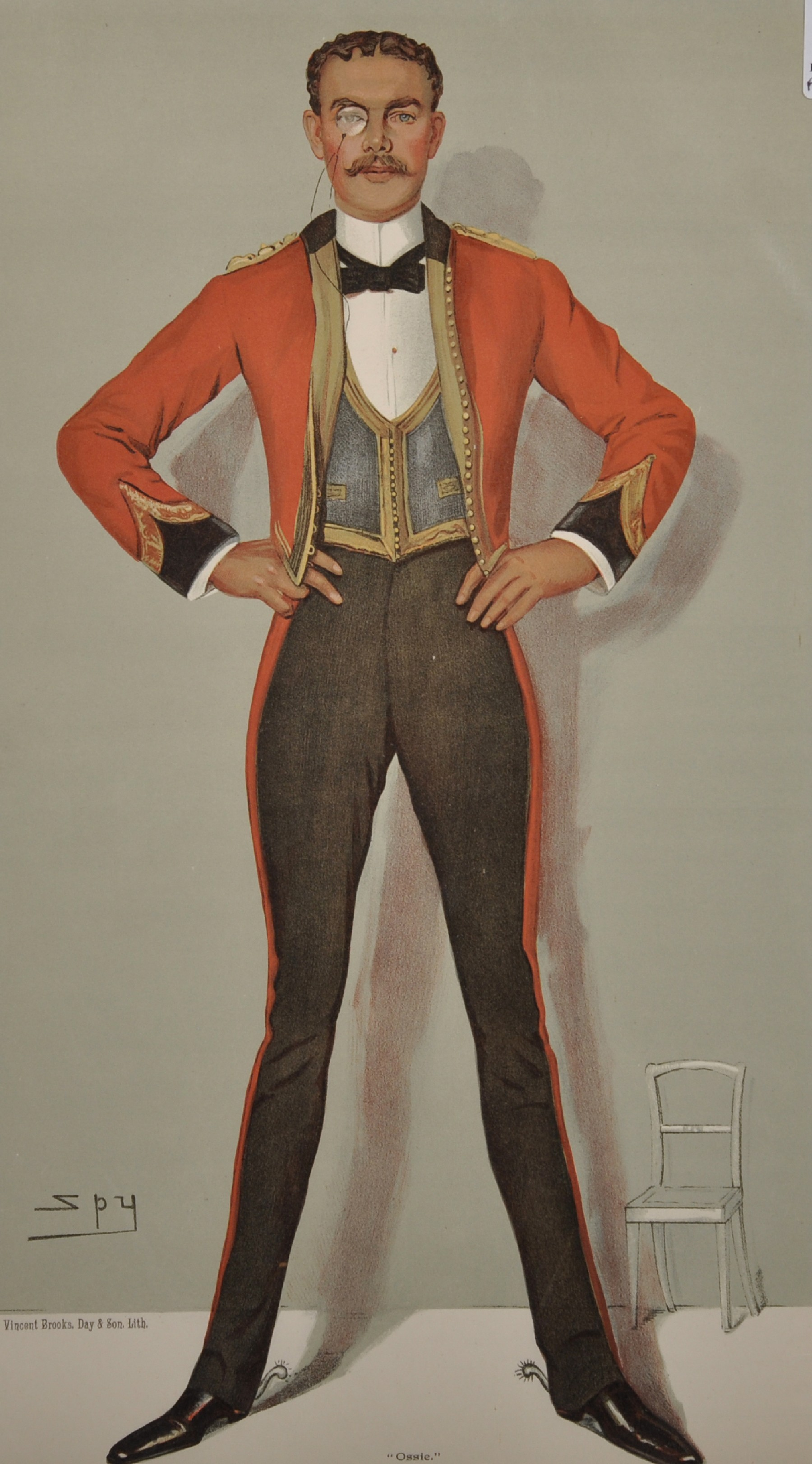 "Leslie Ward 'Spy' (1851-1922) British. ""Ossie"", Study of a Guards Officer in Mess Kit from Vanity"