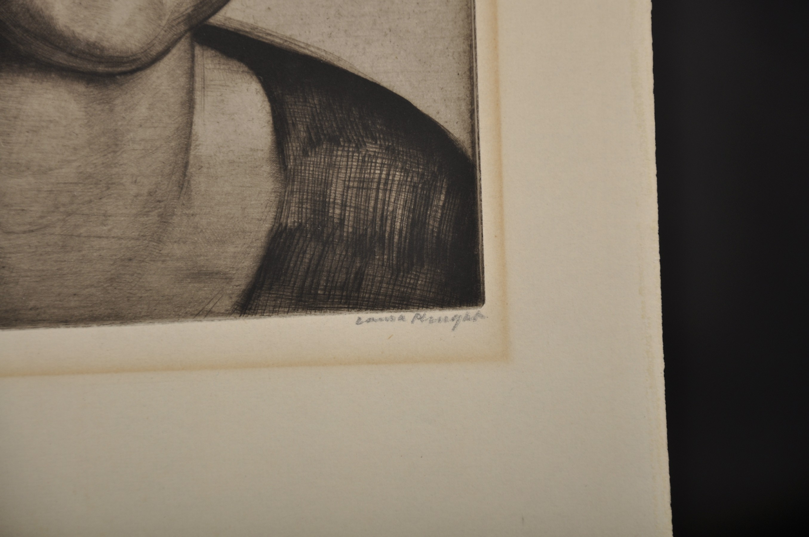 """Laura Knight (1877-1970) British. """"Head of a Young Girl"""", Drypoint Etching, Signed and Inscribed '35 - Image 3 of 5"""