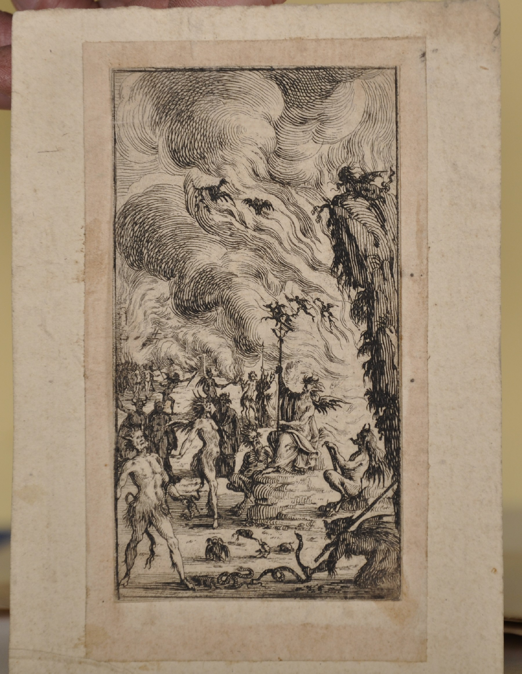 """18th Century Italian School. Cupids with an Elephant, Engraving, Unframed, 6"""" x 7.5"""", and Seven - Image 7 of 9"""