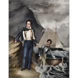 After George Lethbridge Sanders (1774-1846) British. '6th Lord Byron, with his servant, Robert