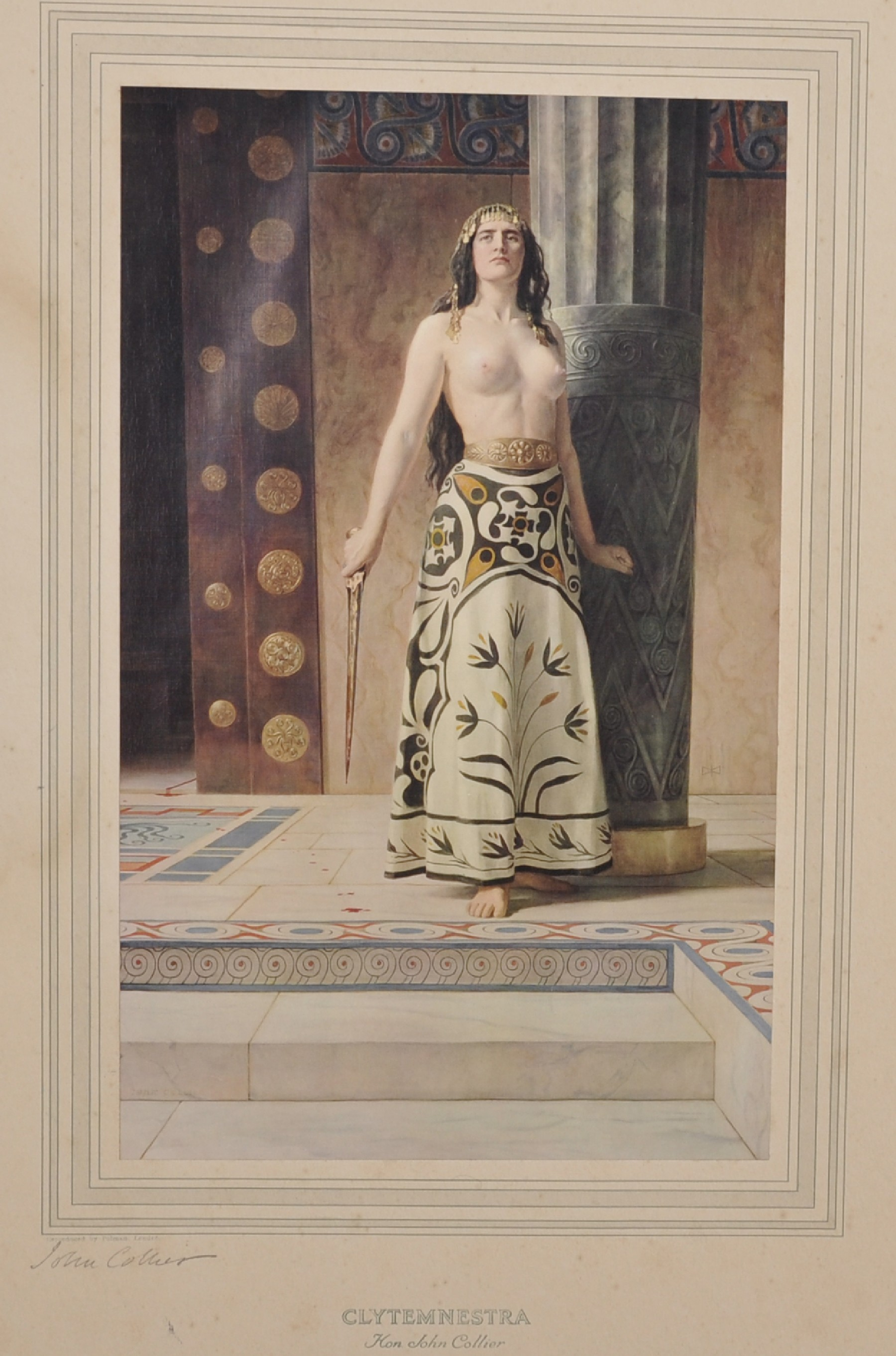 """After John Collier (1850-1934) British. """"Clytemnestra"""", Colour Reproduction, Signed in Pencil,"""