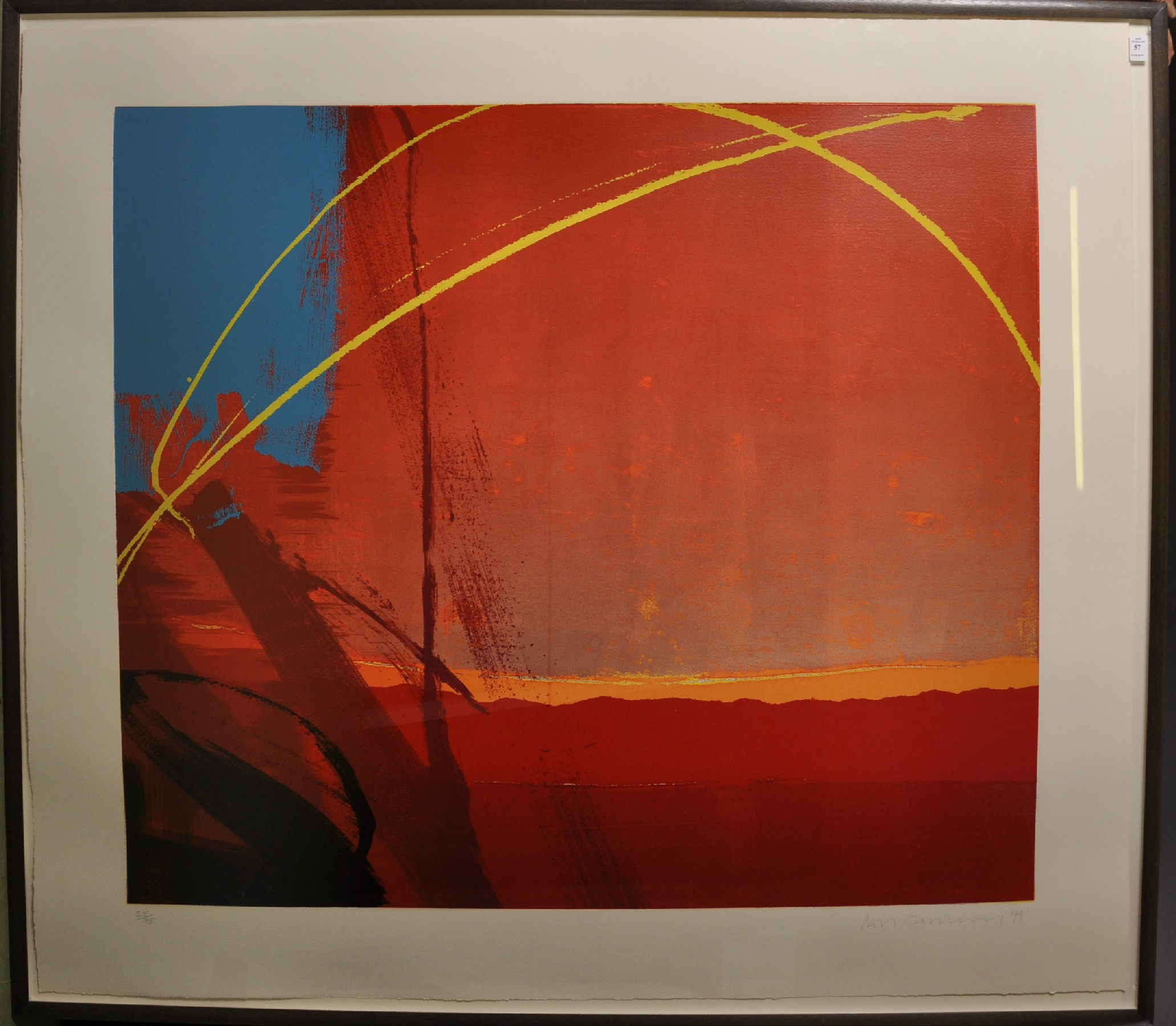 "Lot 57 - Neil Canning (1960- ) British. ""Thermal"", Screenprint, Signed, Dated '99, and Numbered 25/75 in"