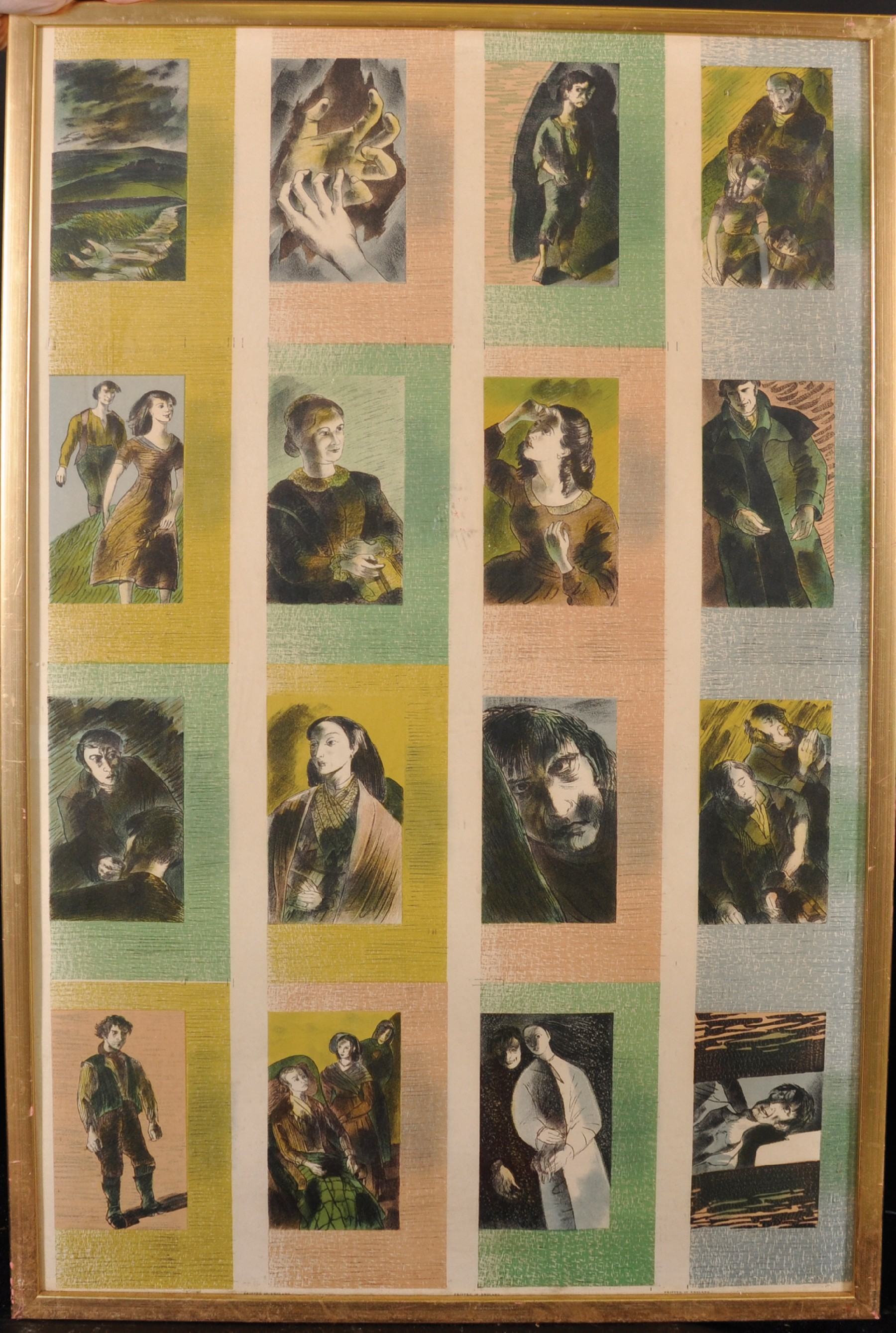 Barnett Freedman (1901-1958) British. Collage of Sixteen Studies for Wuthering Heights, 1940, - Image 2 of 4