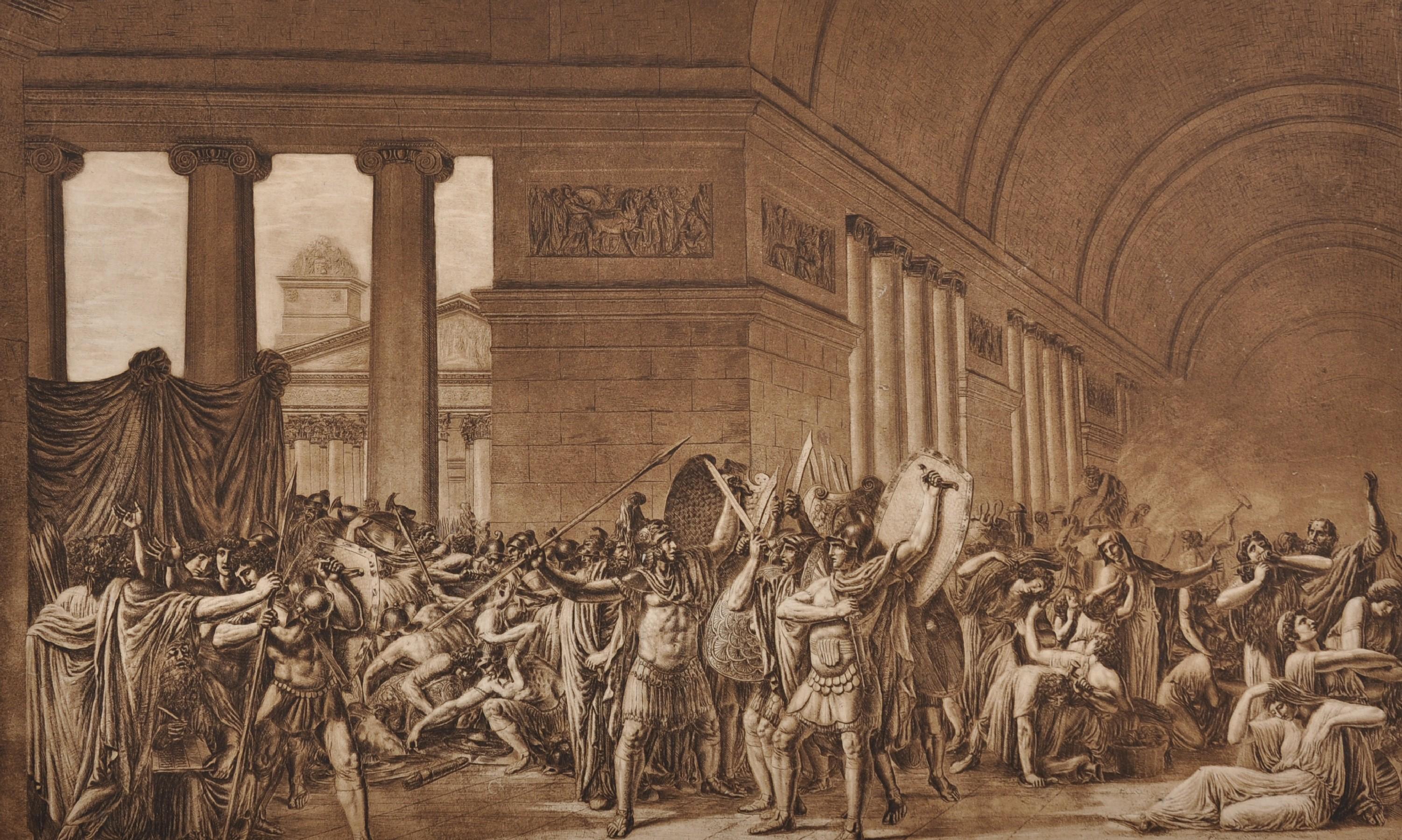 """After Luigi Ademollo (1764-1849) Italian. """"I Cartaginesi Sidfanno le Loro Suppellettili per"""