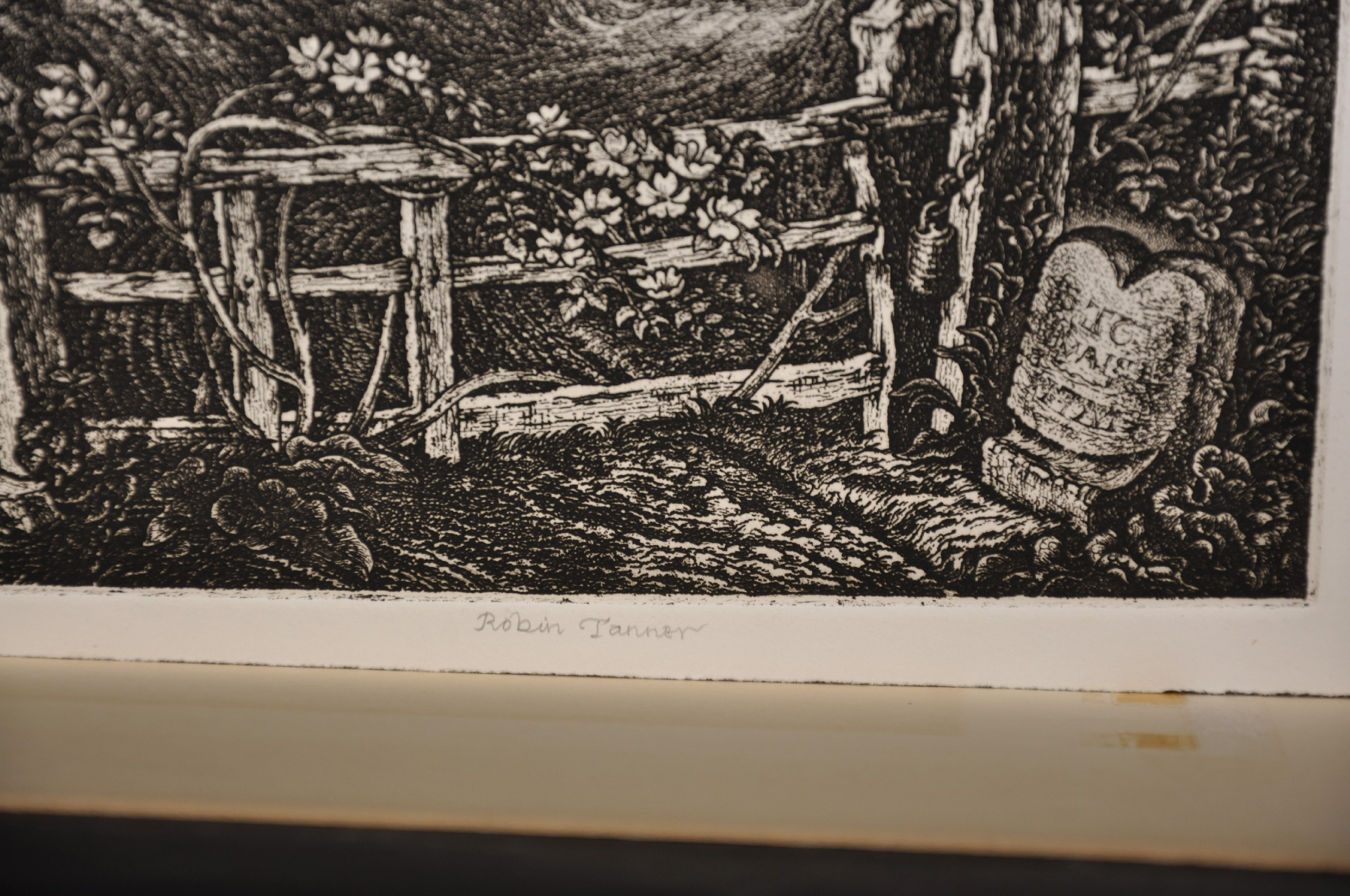 """Robin Tanner (1904-1988) British. """"The Old Road"""", Etching, Signed in Pencil, Unframed, 11.75"""" x 9. - Image 3 of 3"""