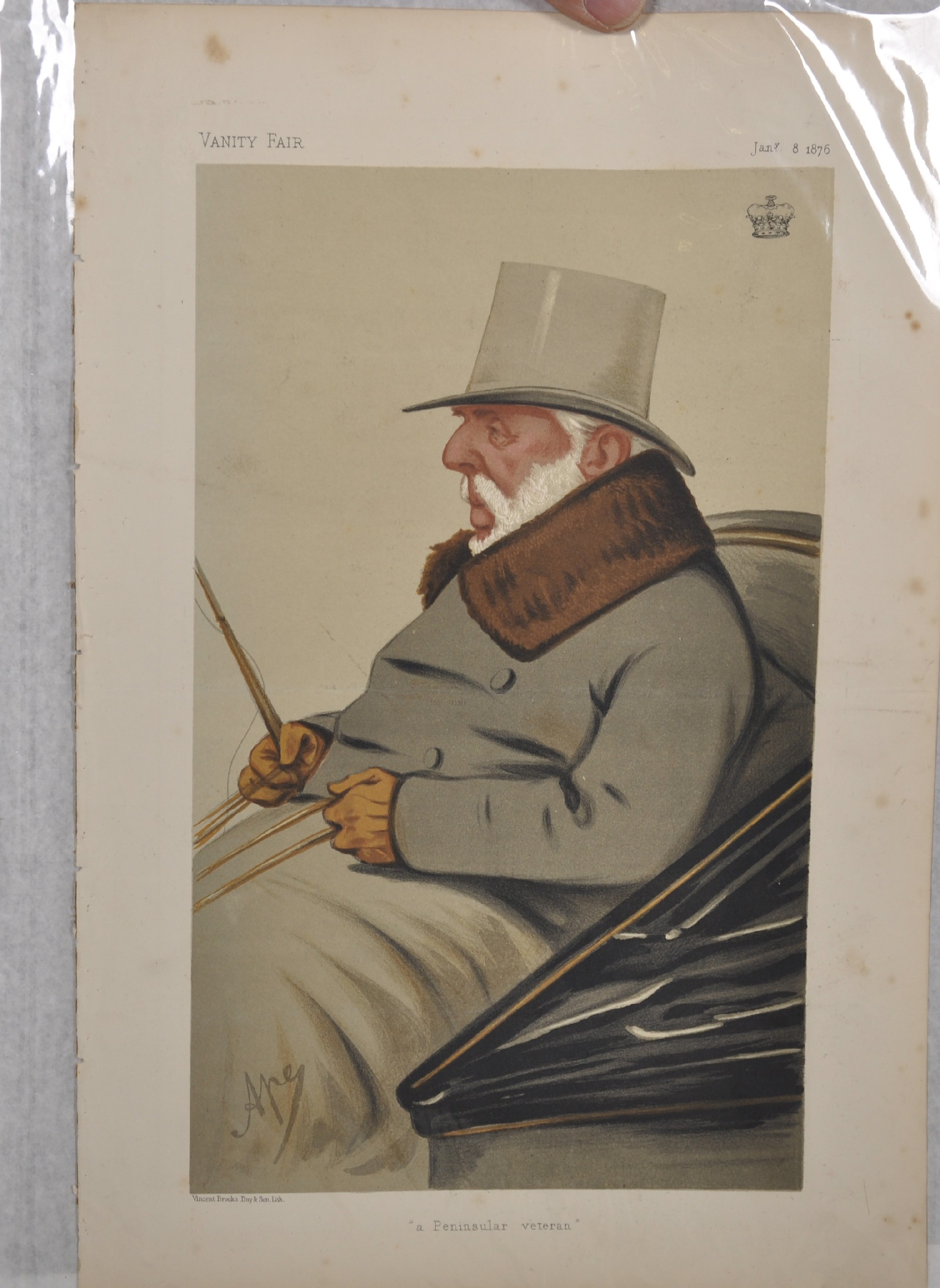 "Leslie Ward 'Spy' (1851-1922) British. ""Ossie"", Study of a Guards Officer in Mess Kit from Vanity - Image 5 of 6"