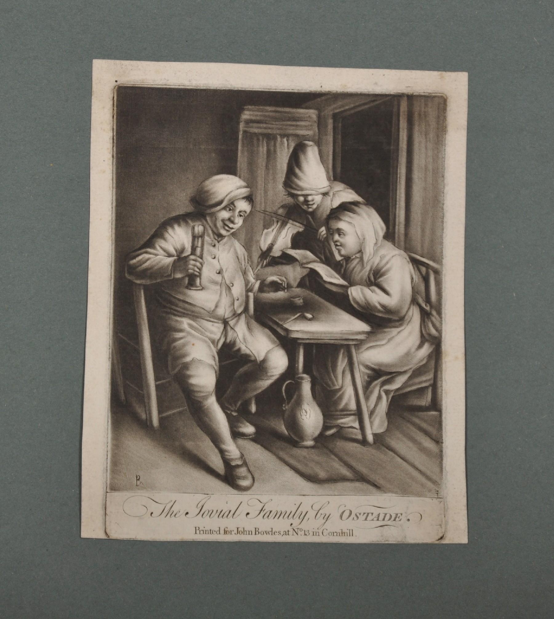 """18th Century English School. """"The Flemish Drinker"""" after David Teniers (1610-1690), Engraving, - Image 3 of 8"""