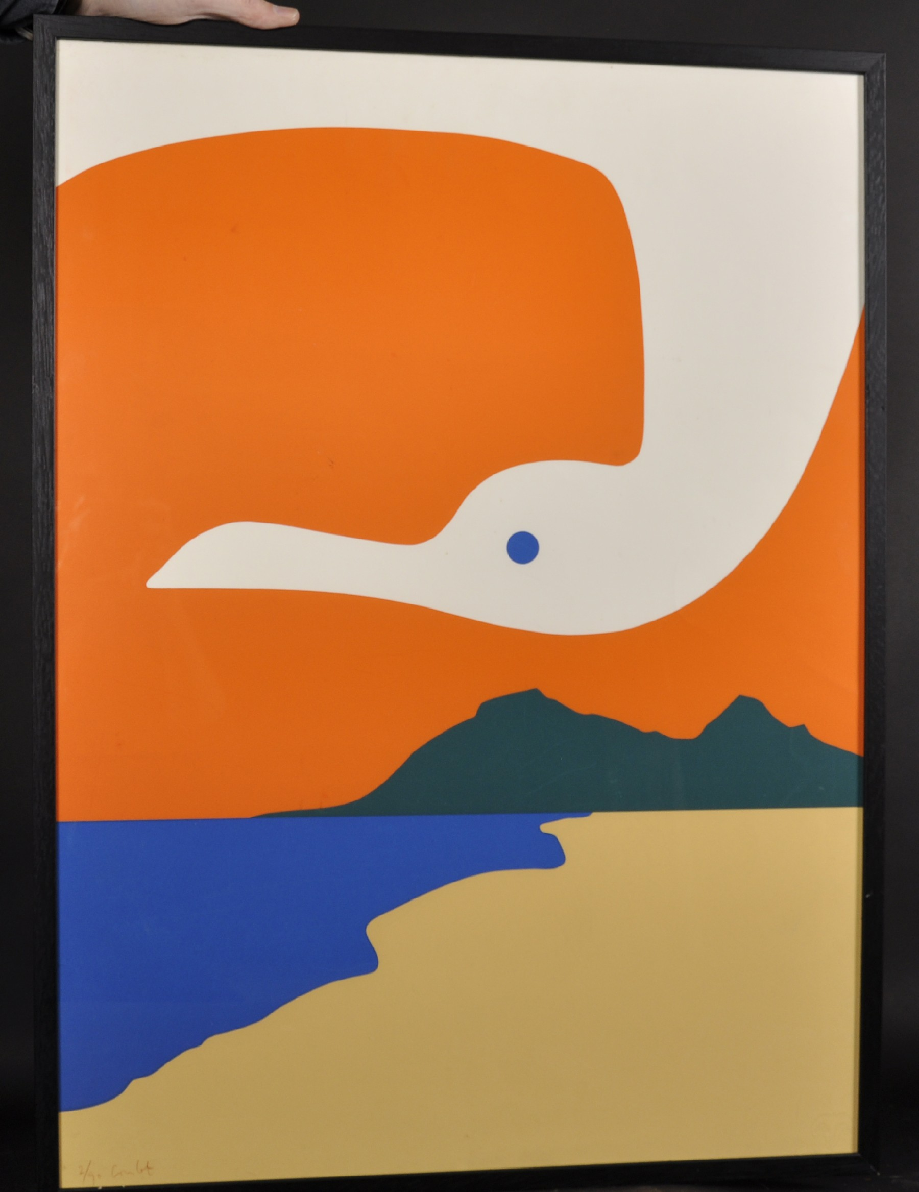 "Jean Coulot (1928-2010) Swiss. ""La Mouette II"", Serigraph, Signed and Numbered 2/90, 29.5"" x 21.5"". - Image 2 of 4"