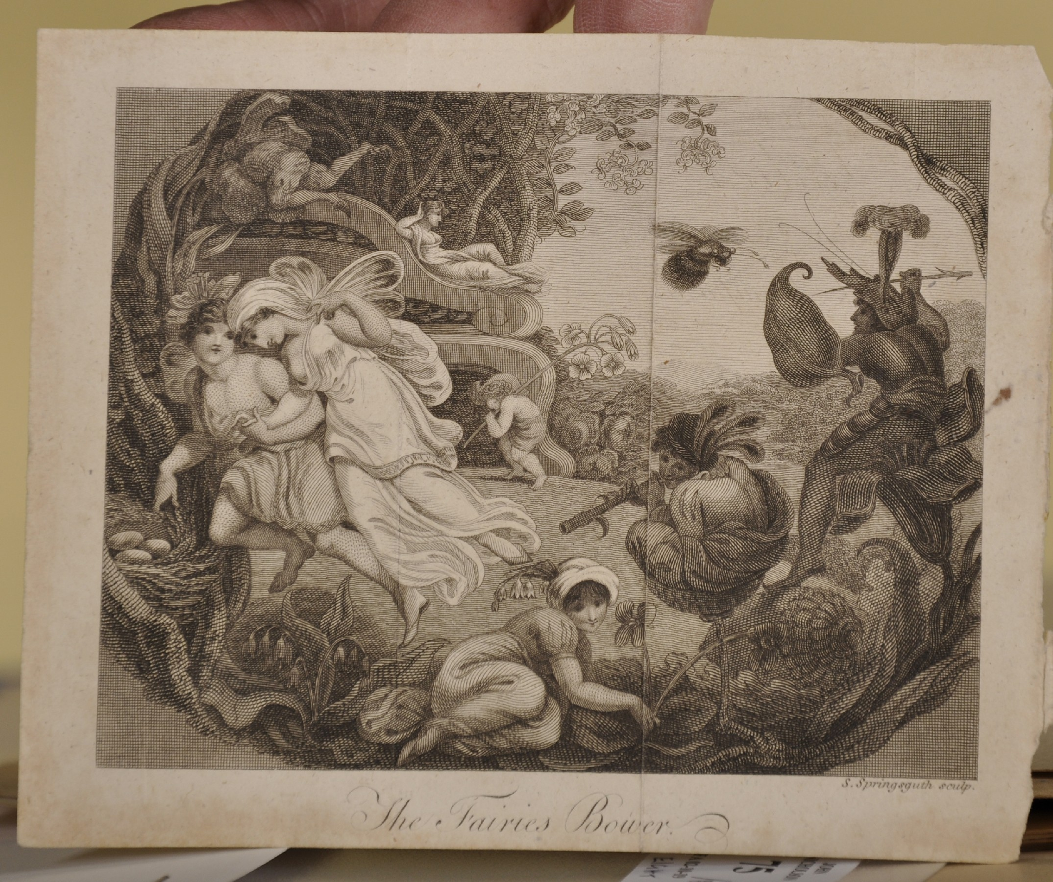 """18th Century Italian School. Cupids with an Elephant, Engraving, Unframed, 6"""" x 7.5"""", and Seven - Image 4 of 9"""